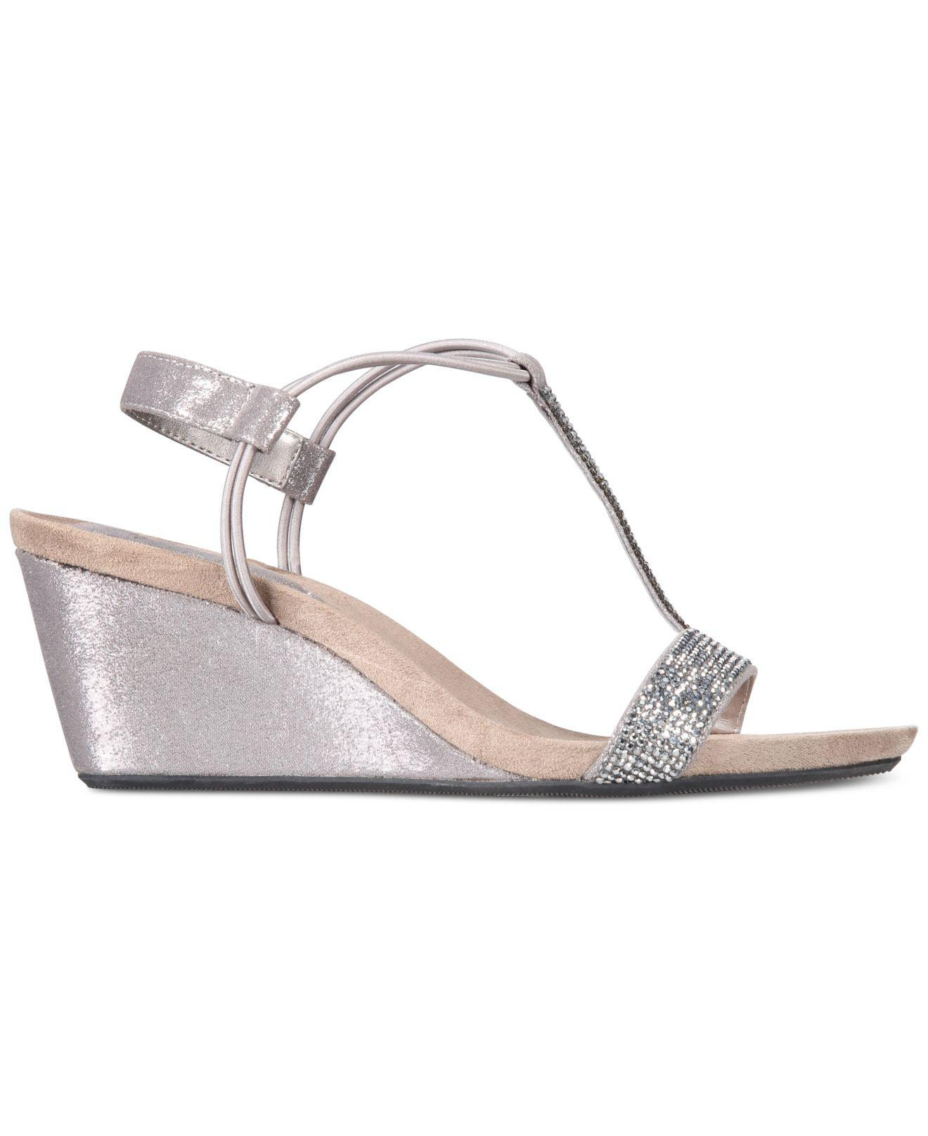 1ecf0d3b23 Style & Co. Mulan 2 Platform Wedge Sandals in Gray - Lyst