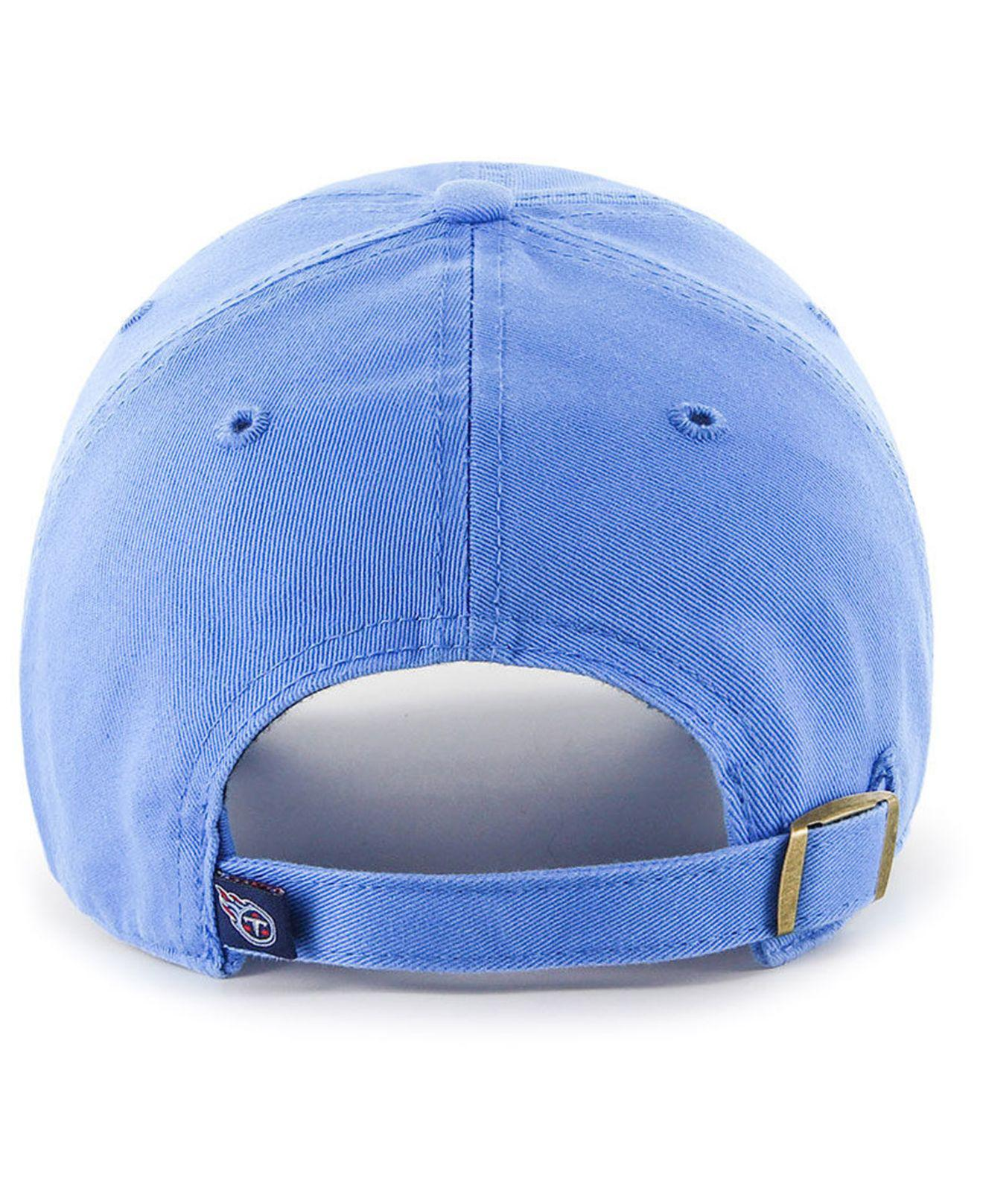 best sneakers 4ad29 e9f18 Lyst - 47 Brand Tennessee Titans Clean Up Strapback Cap in Blue for Men