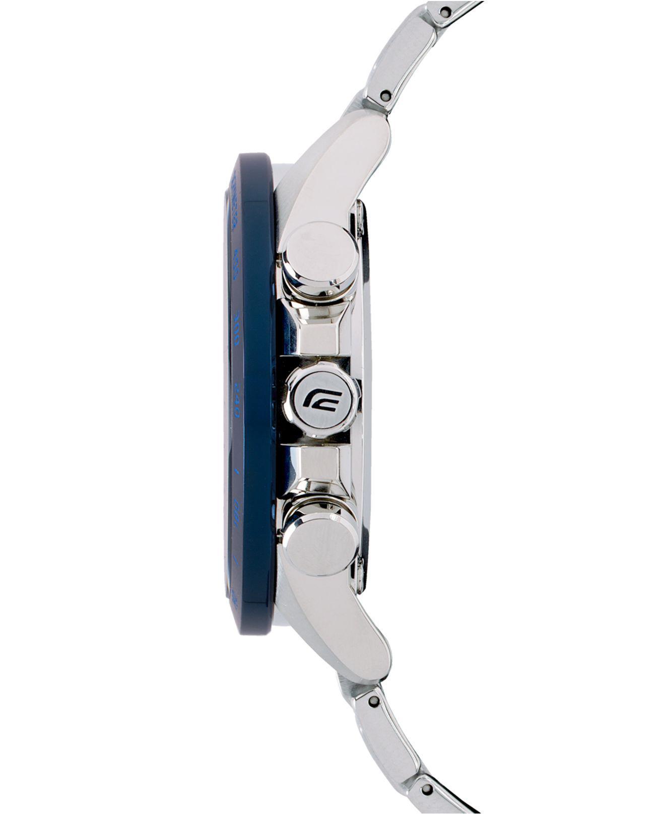 Lyst G Shock Solar Edifice Stainless Steel Bracelet Watch 42mm In Metallic For Men