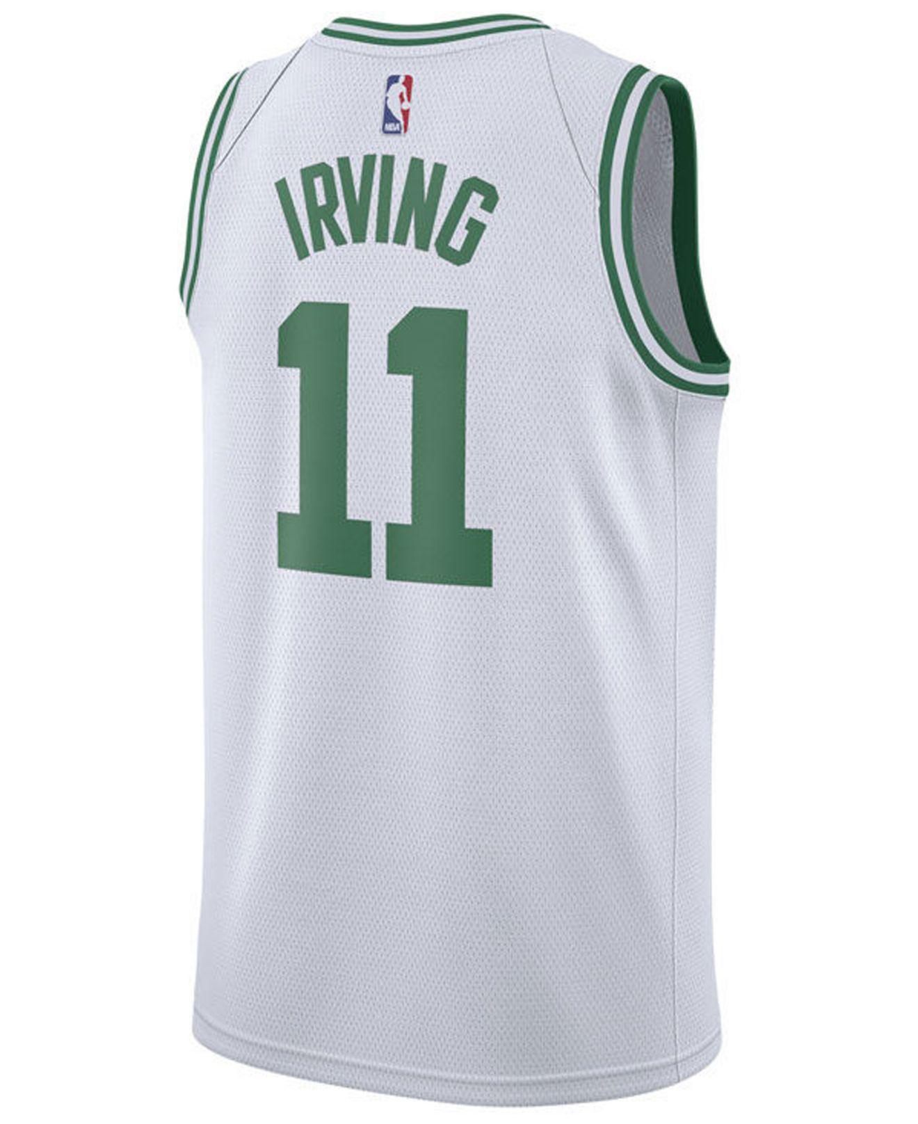 Nike. Men s White Kyrie Irving Association Edition Swingman (boston Celtics)  Nba Connected Jersey cc260430a