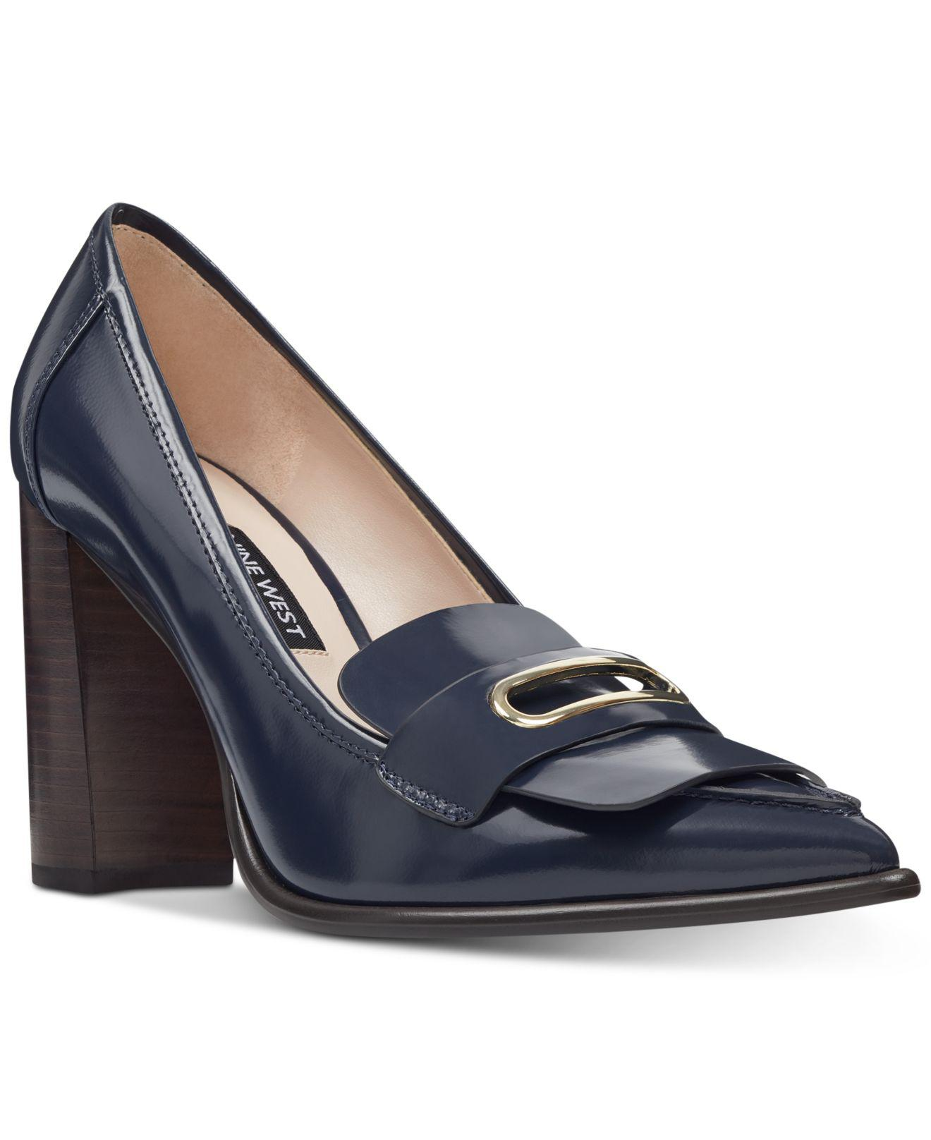 f1852eb4c94 Lyst - Nine West Zoro Tailored Pumps in Blue - Save 44%