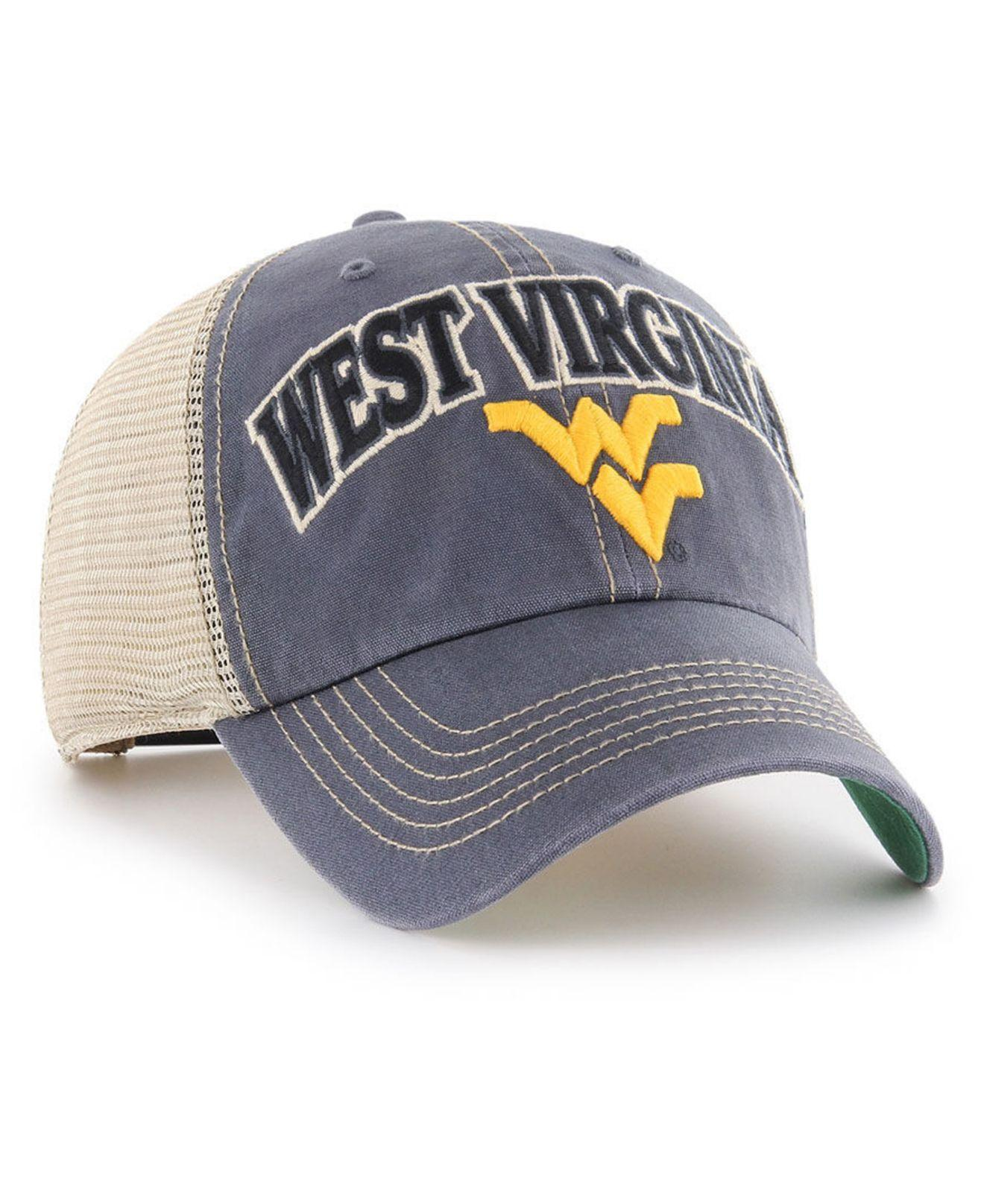 c81ca8d9dc03b Lyst - 47 Brand West Virginia Mountaineers Tuscaloosa Mesh Clean Up Cap in  Blue for Men