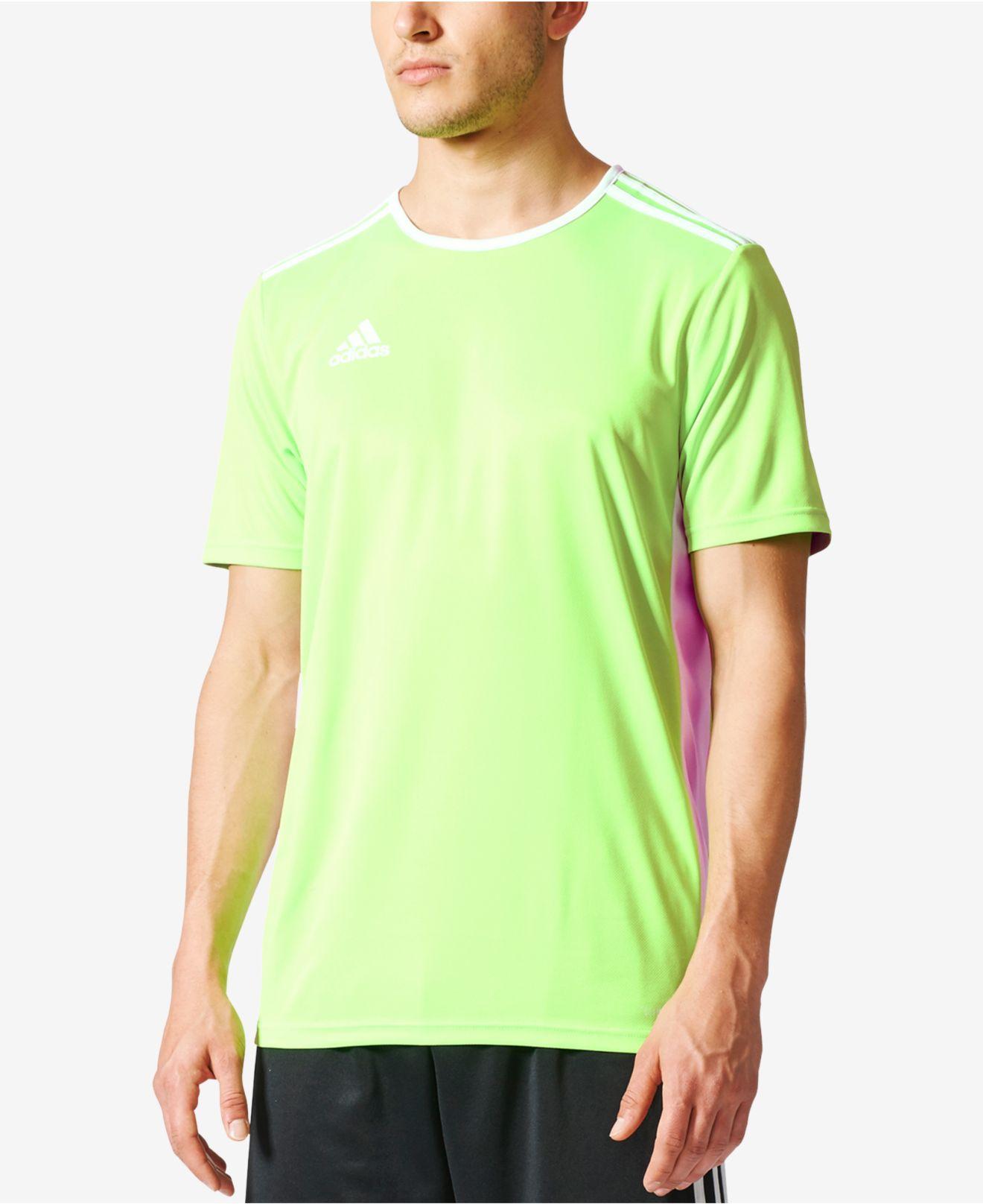 adidas Synthetic Entrada 18 Jersey (solar Green/white) Clothing ...