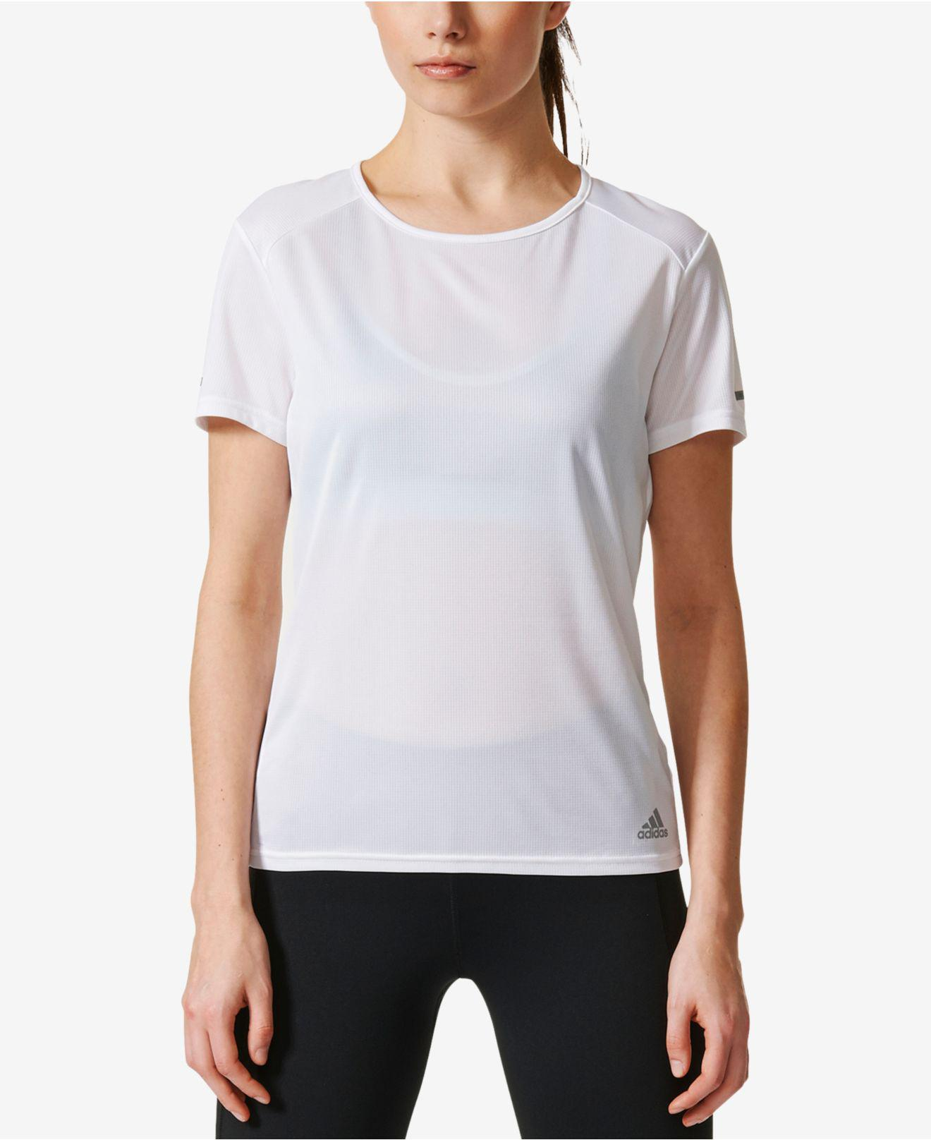8439cb1e974347 Adidas - White Climalite® Running T-shirt - Lyst. View fullscreen