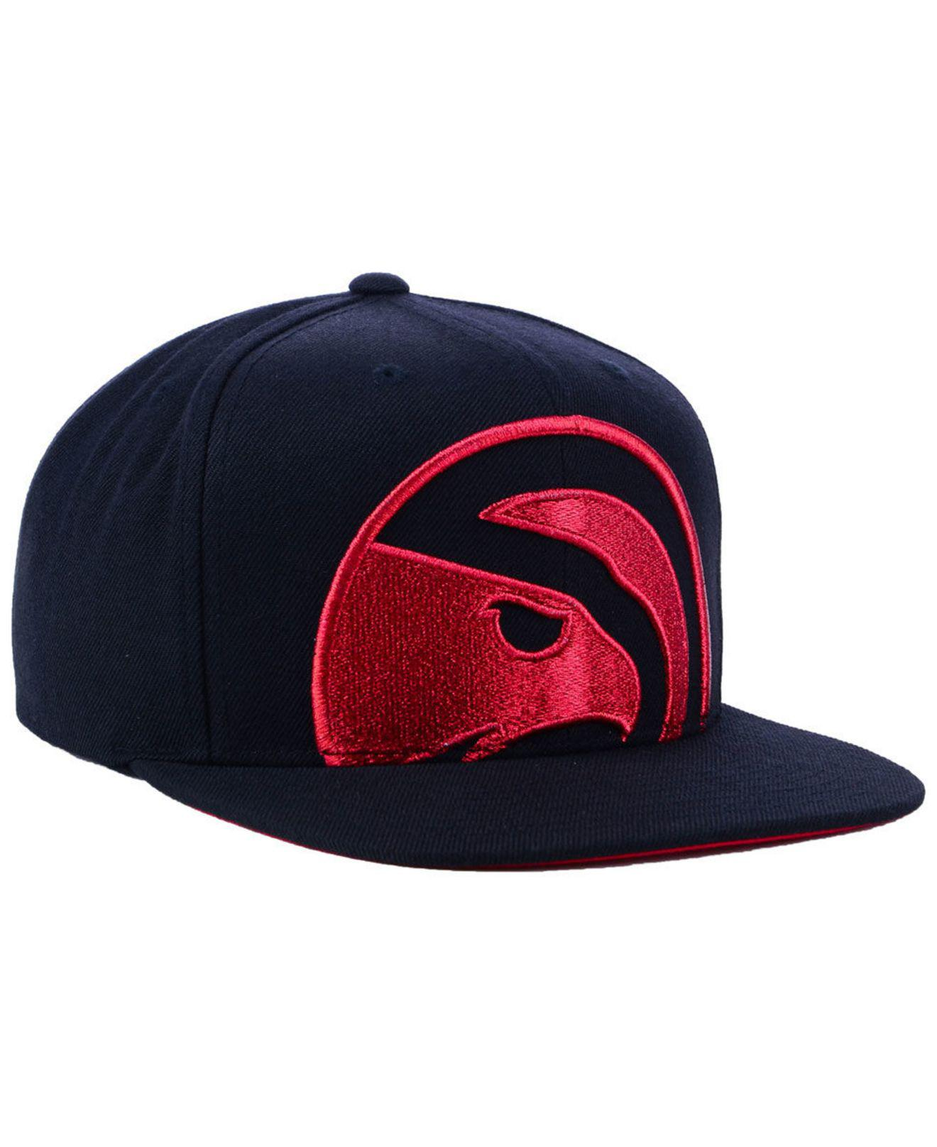 sports shoes 64743 0f936 Mitchell   Ness - Blue Atlanta Hawks Metallic Cropped Snapback Cap for Men  - Lyst. View fullscreen