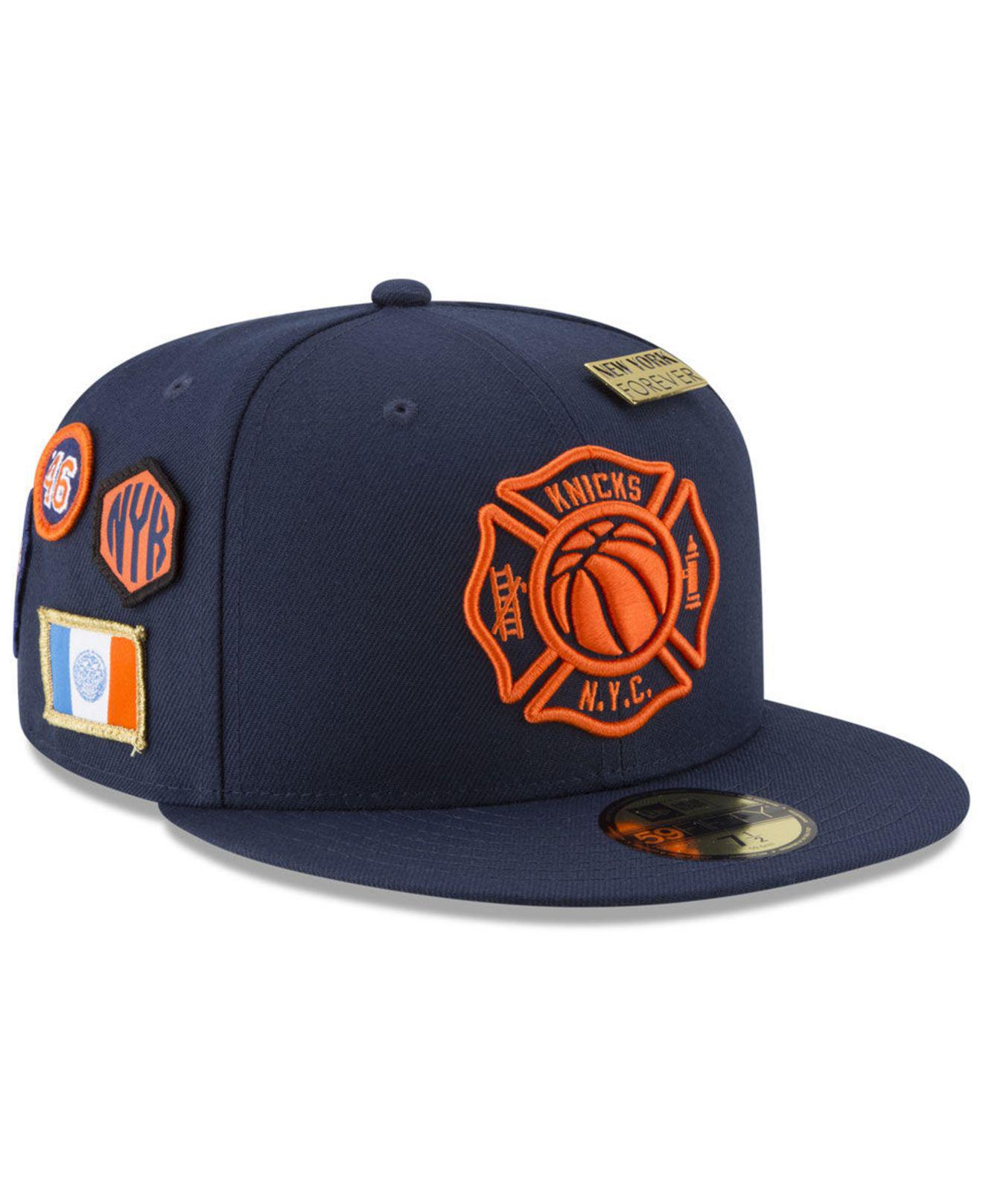 d95dd6e3fae Lyst - KTZ New York Knicks City On-court 59fifty Fitted Cap in Blue ...