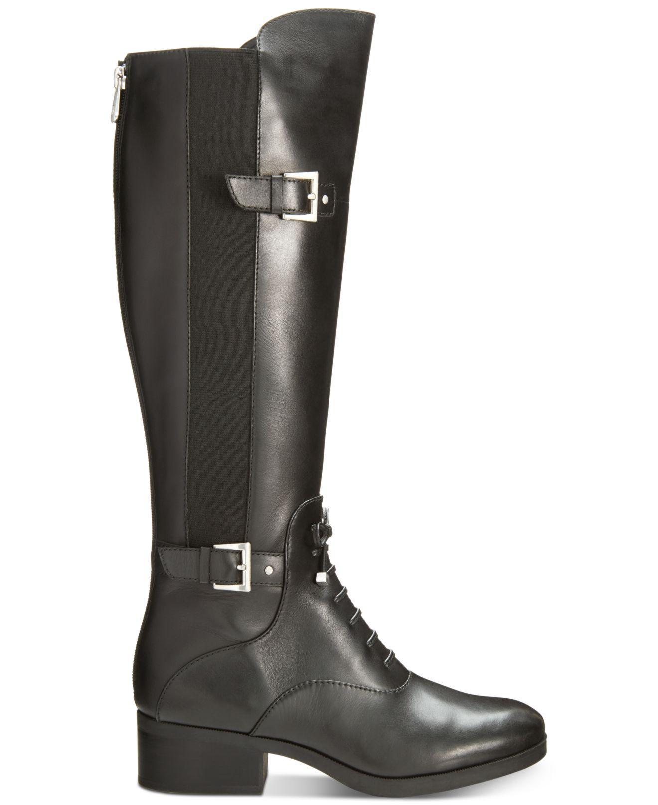 9aef5292e17 Lyst - Adrienne Vittadini Moshiko Riding Boots in Black