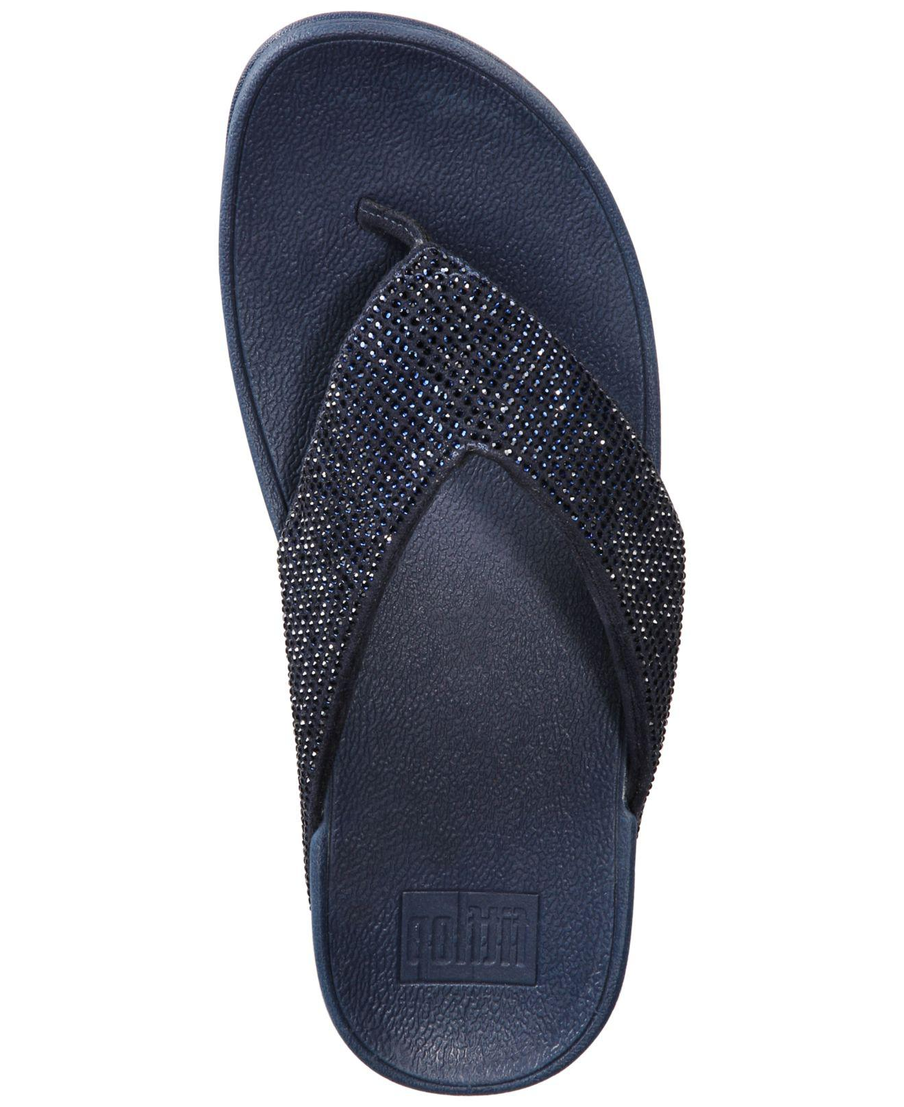 01792d523 Fitflop - Blue Ritzy Toe-thong Sandals - Lyst. View fullscreen