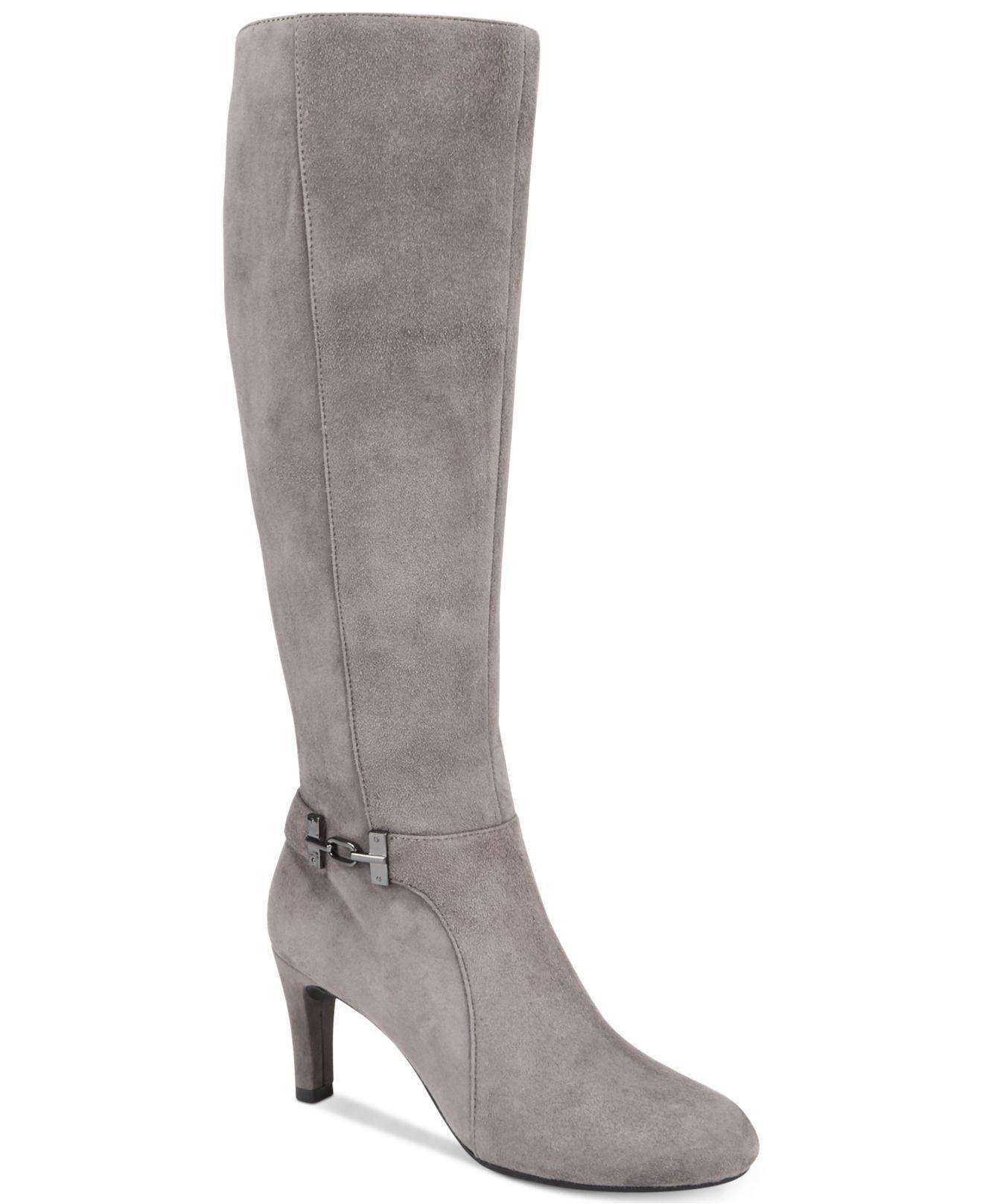 447cd3c6c49 Lyst - Bandolino Lamari Wide-calf Dress Boots in Gray