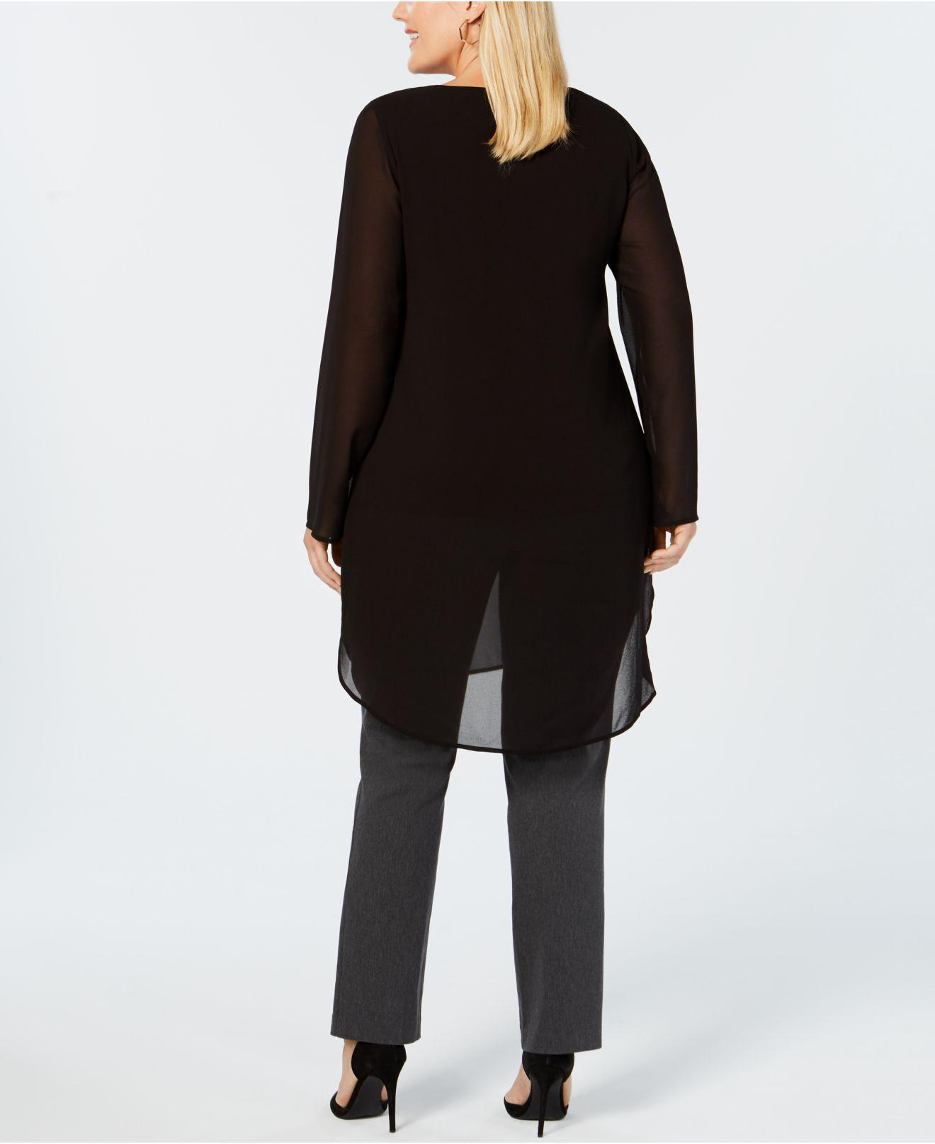 d384b78f72b0f Lyst - Alfani Plus Size Printed Tunic Blouse