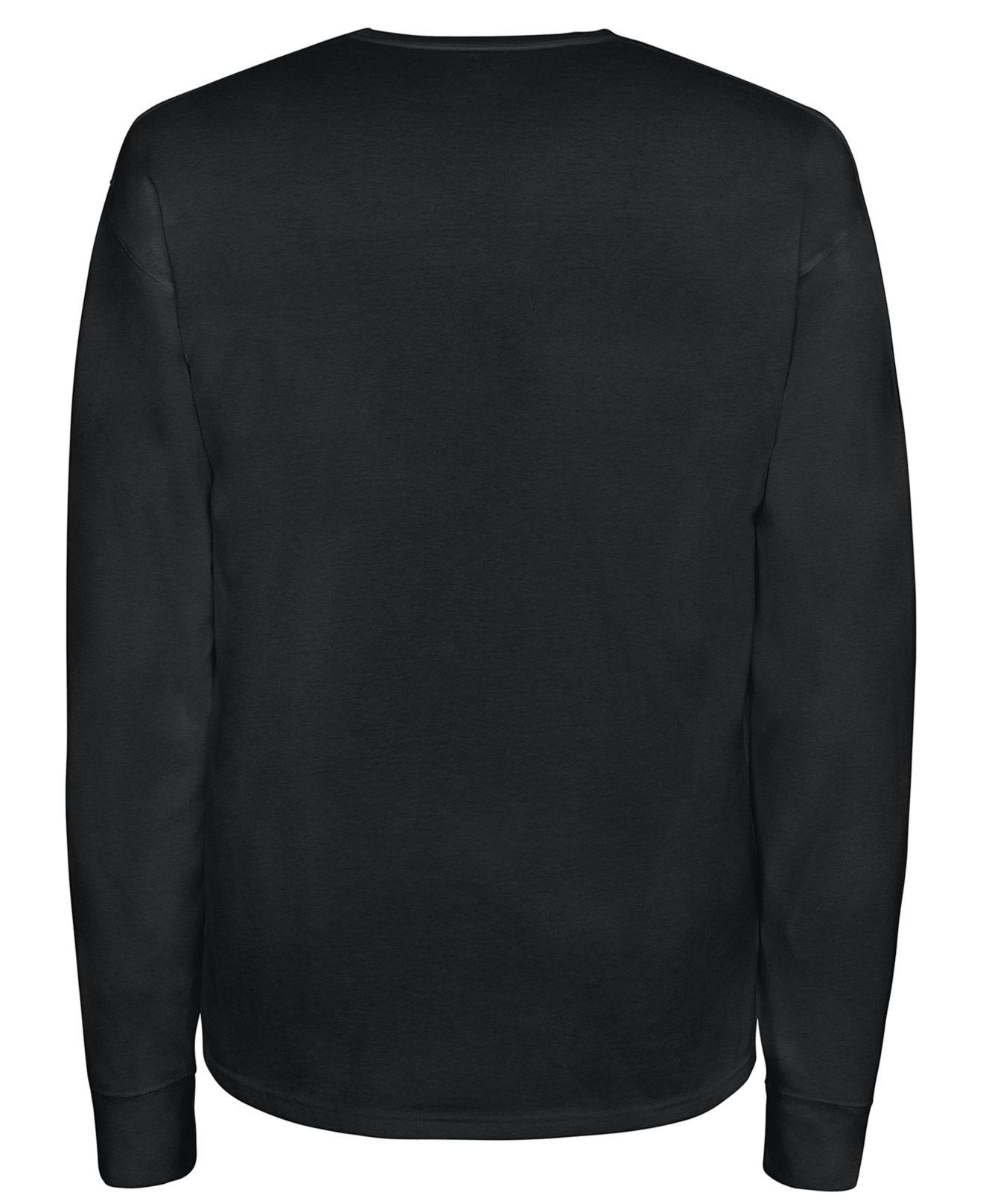 850892ca Champion Long-sleeve Logo T-shirt in Black for Men - Save 48% - Lyst