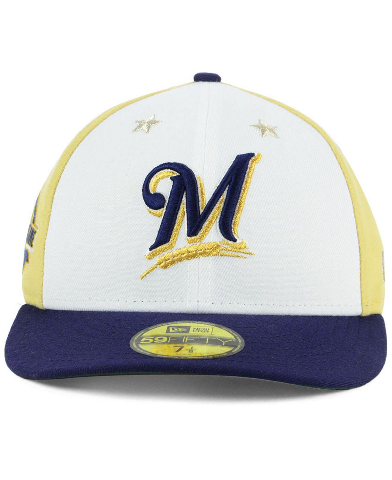 watch 56ce1 5c712 ... netherlands lyst ktz milwaukee brewers all star game patch low profile  59fifty fitted cap 2018 in