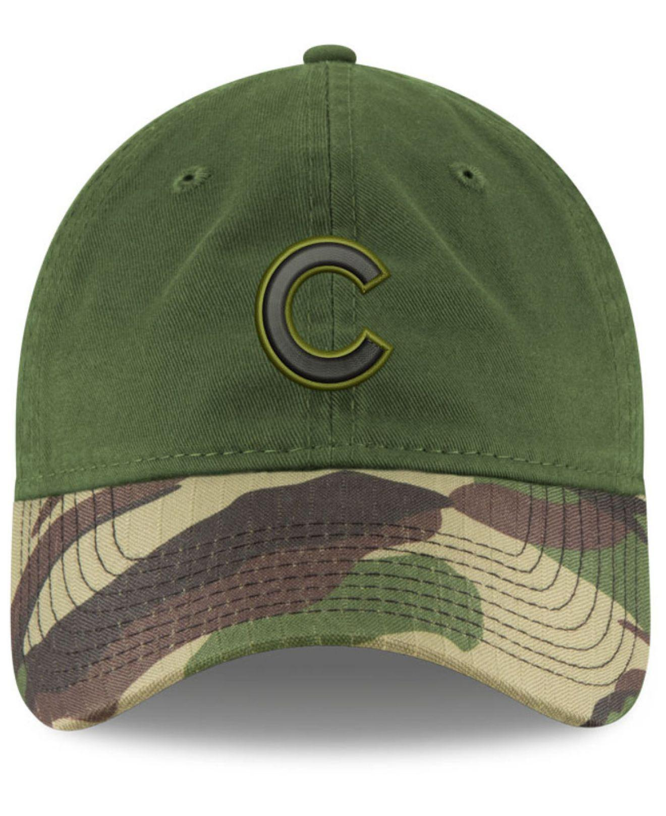 competitive price a7be8 64bf5 spain chicago cubs 2018 memorial day on field 59fifty fitted cap 8dbcf  1c00f  usa lyst ktz chicago cubs memorial day 9twenty cap in green for men  e105e ...