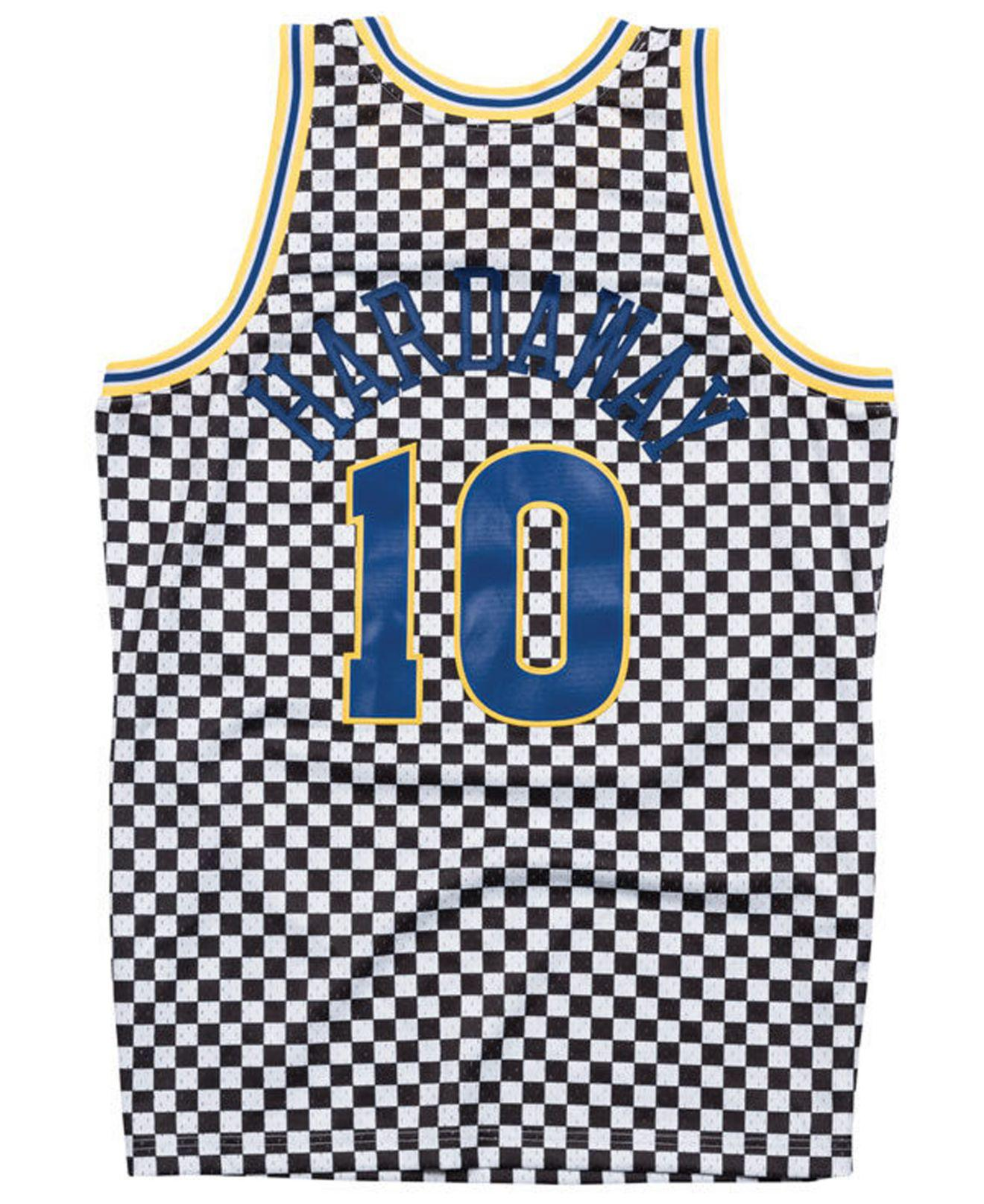 Lyst - Mitchell   Ness Tim Hardaway Golden State Warriors Checkerboard  Swingman Jersey for Men dfd5c9e62
