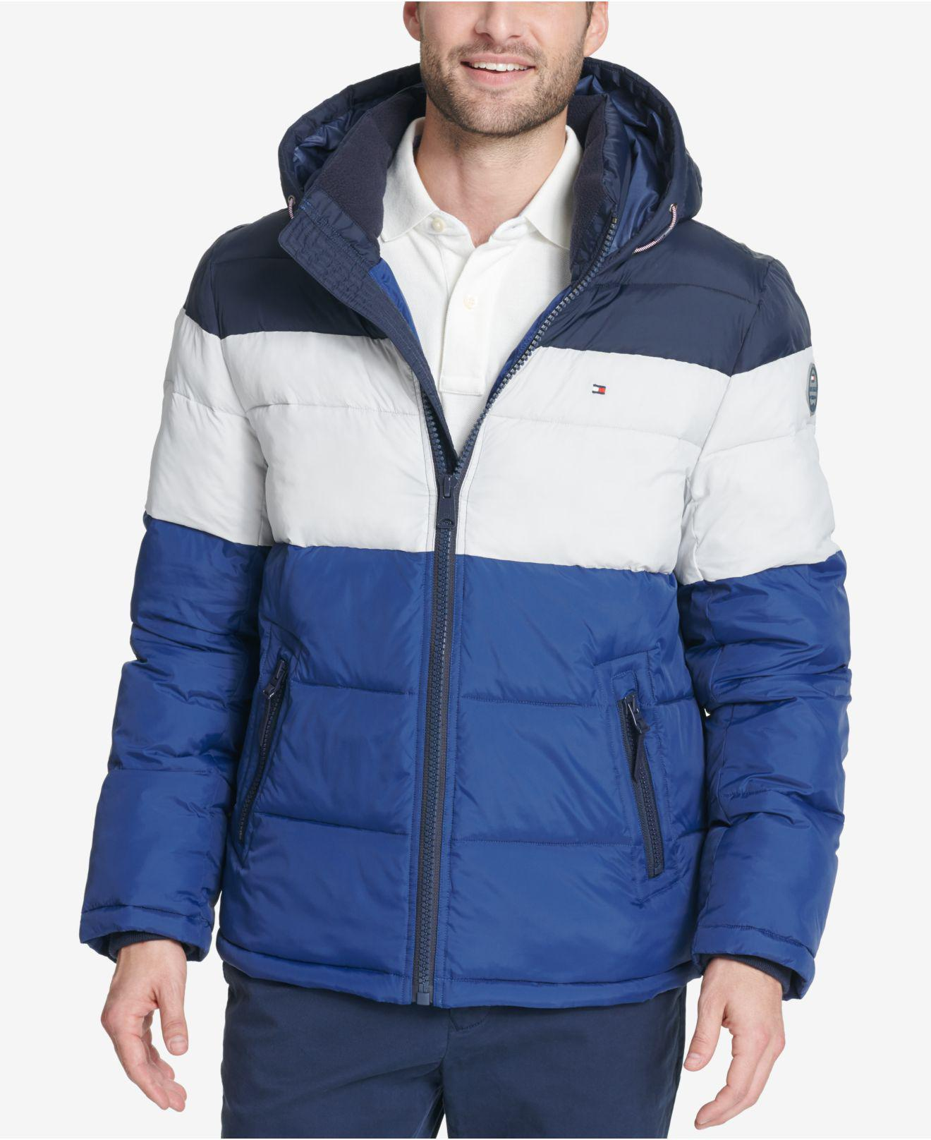 Tommy Hilfiger Fleece Big & Tall Quilted Hooded Puffer ...