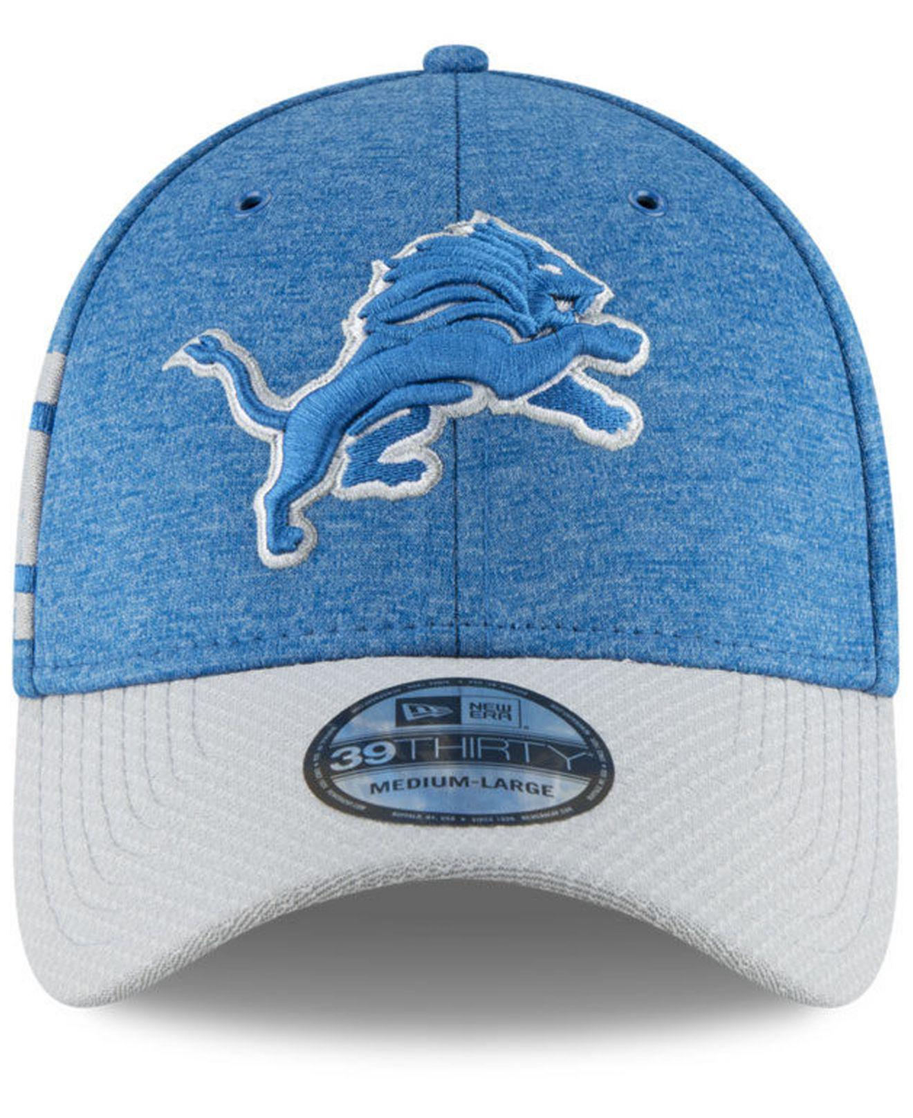 new style b5809 72ed4 Lyst - KTZ Detroit Lions On Field Sideline Home 39thirty Cap in Blue for Men