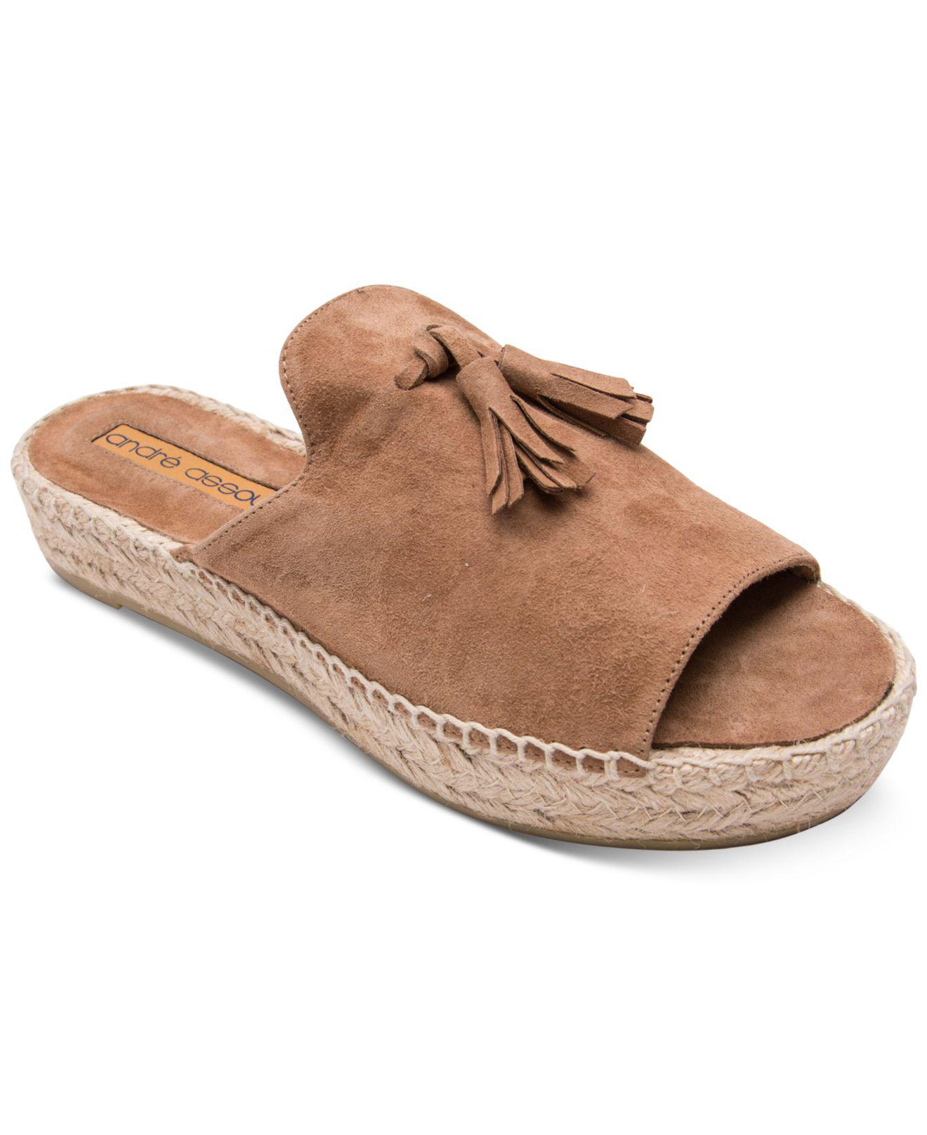 92f3f6d5cd94 Lyst - Andre Assous Cameron Flat Sandals in Brown - Save 1%