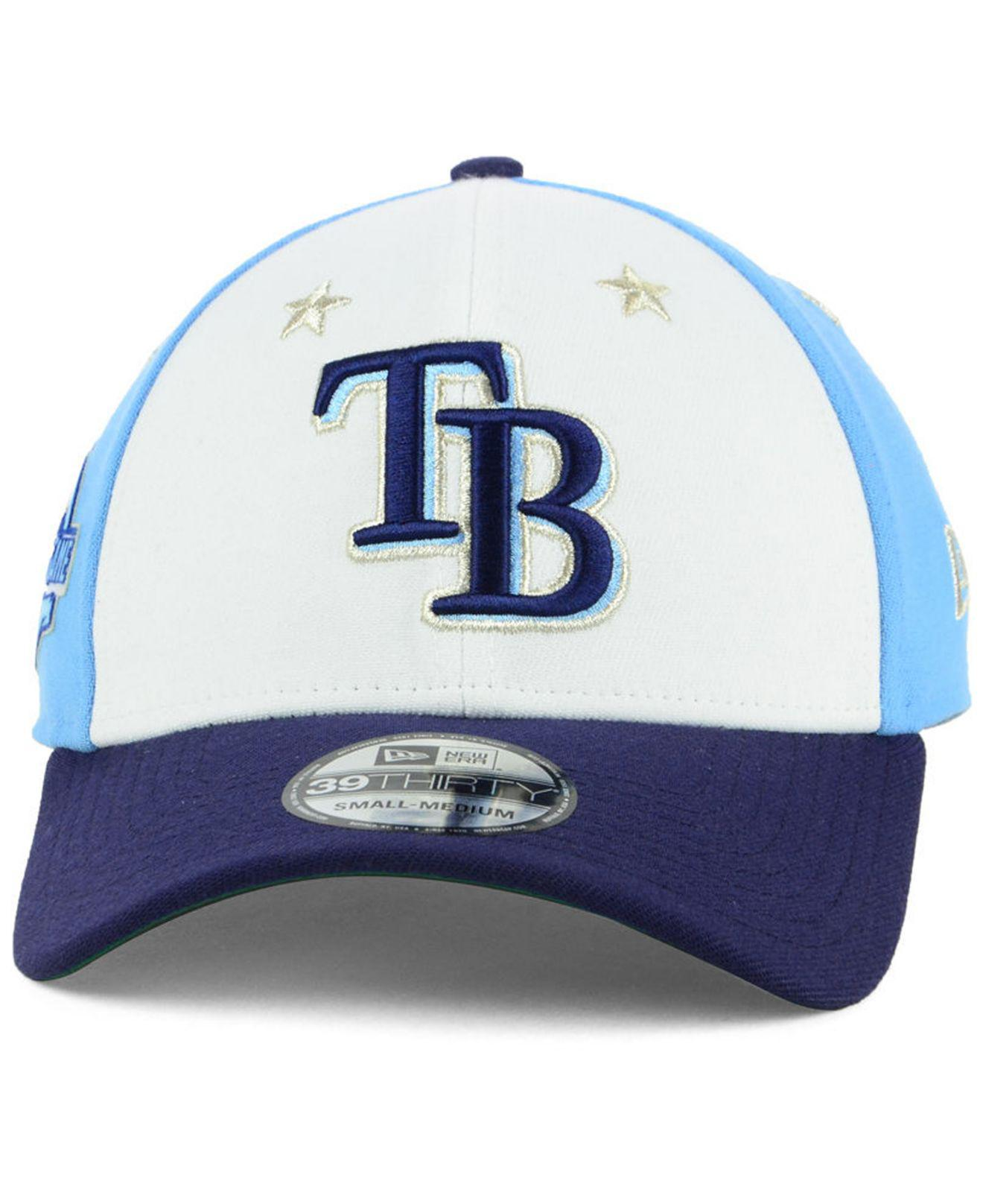 the best attitude d5b10 f71bd ... cheap lyst ktz tampa bay rays all star game 39thirty stretch fitted cap  2018 in blue