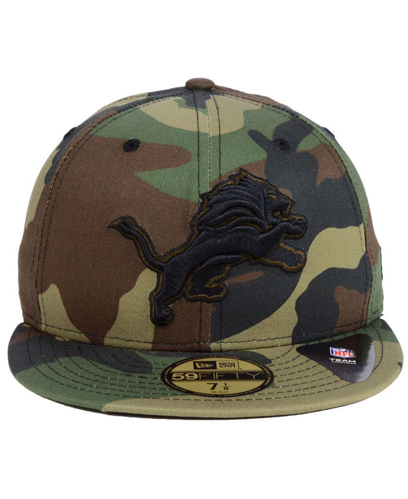 bfb8b3bd8ee Lyst - KTZ Detroit Lions Woodland Prism Pack 59fifty-fitted Cap in Green  for Men