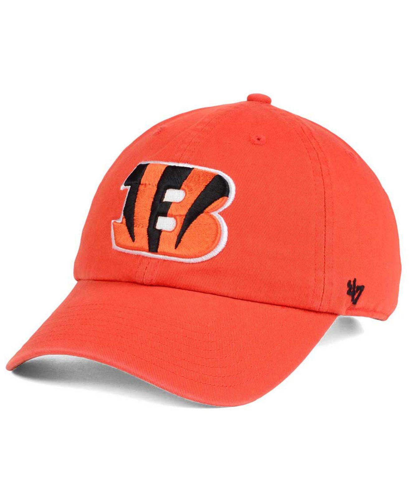 8eb4e3d0e6d708 Lyst - 47 Brand Cincinnati Bengals Clean Up Strapback Cap in Orange ...