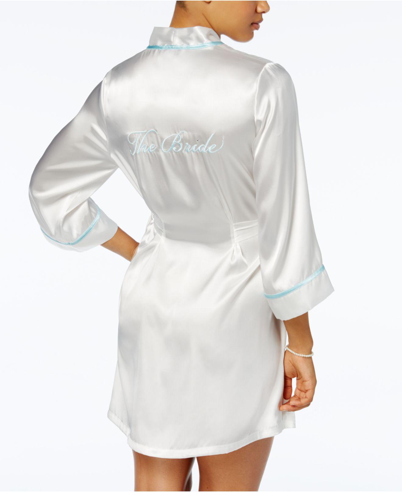 73d4fdc93d Lyst - Linea Donatella Satin The Bride Wrap in Metallic