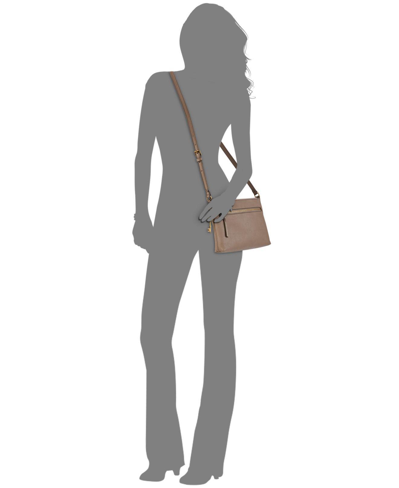 c5675ee3bc Lyst - Fossil Fiona Ew Crossbody Handbags Light Taupe - Save 9%