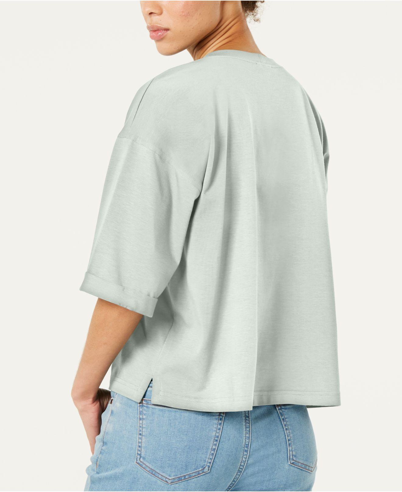 f8a8670364a Lyst - Eileen Fisher Organic Cotton Elbow-sleeve Top, Regular & Petite