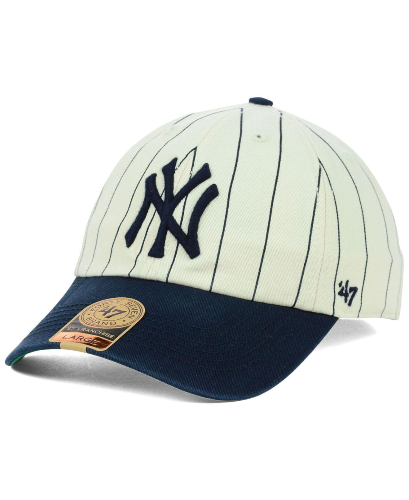 0ae6fa238610c 47 Brand New York Yankees Pinstripe Franchise Cap in Blue for Men - Lyst