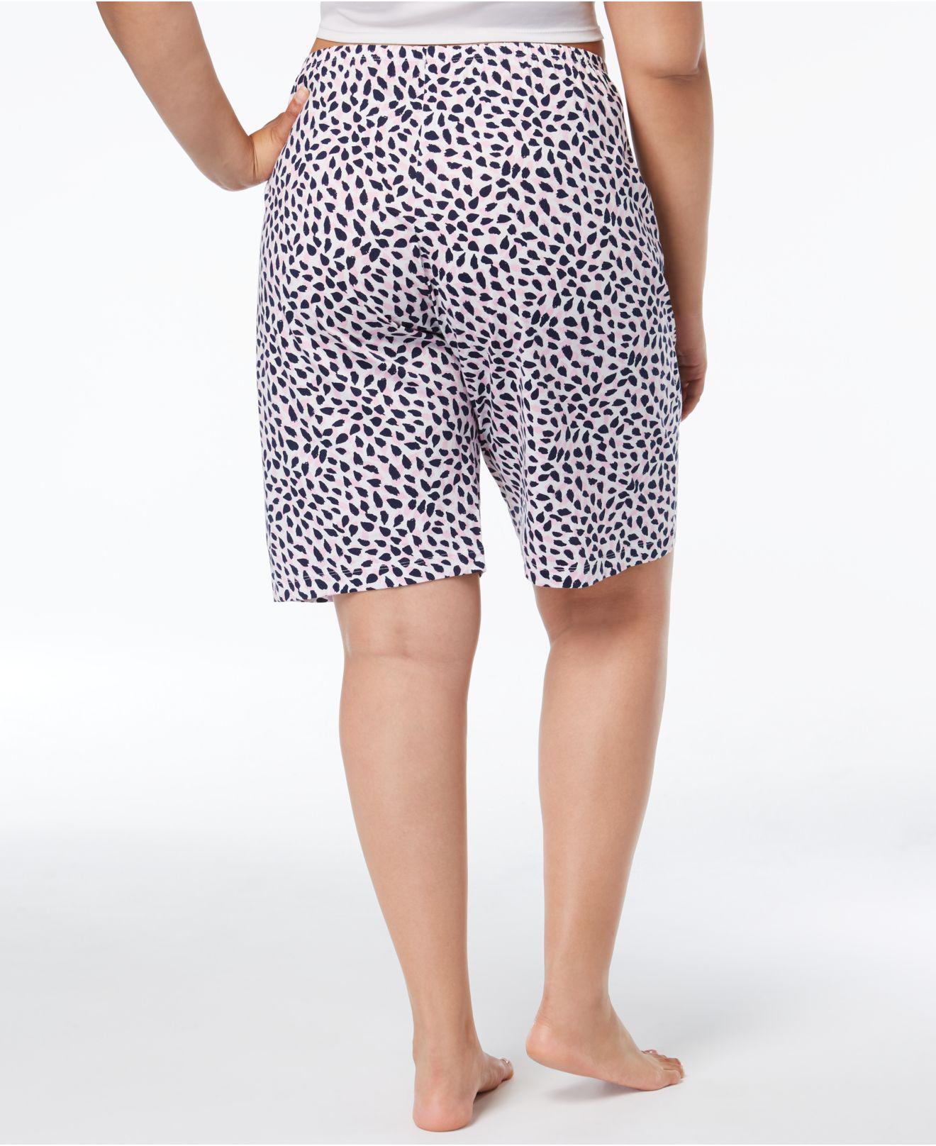 ® Plus Size House-print Bermuda Pajama Shorts