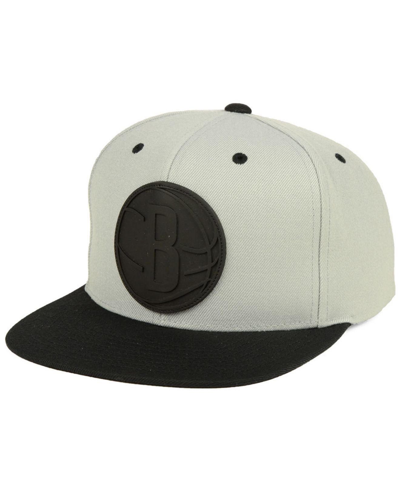 8c1dce2b3d7 Lyst - Mitchell   Ness Brooklyn Nets Rubber Weld Snapback Cap for Men