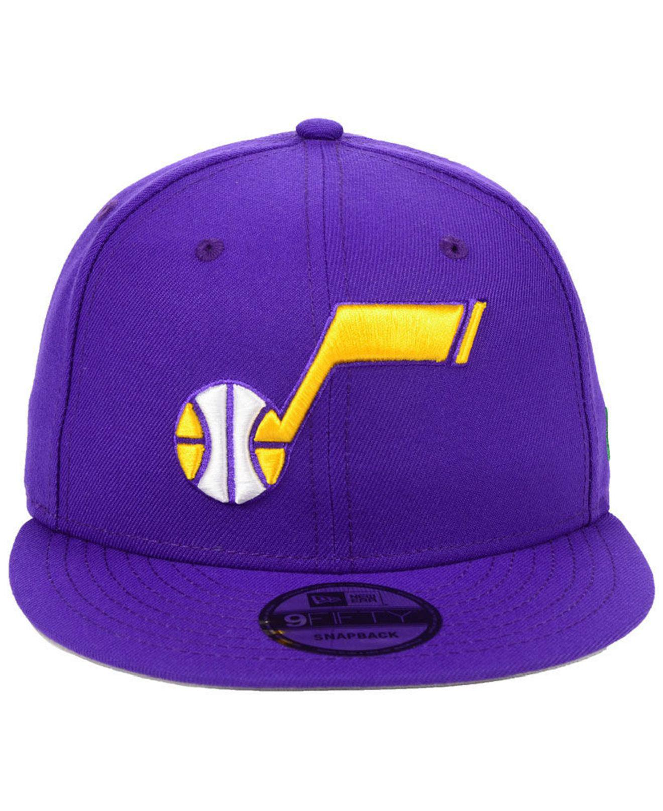 ed3b080ded4ab8 Lyst - KTZ Utah Jazz Hardwood Classic Nights Pin 9fifty Snapback Cap in  Purple for Men