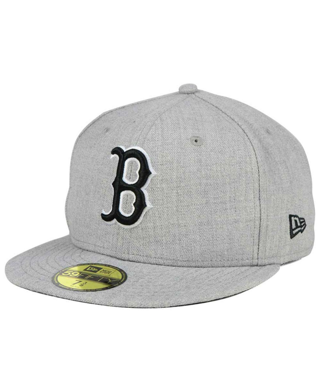 separation shoes 68042 12af1 ... canada ktz. mens gray boston red sox heather black white 59fifty cap  96b34 bdcc4