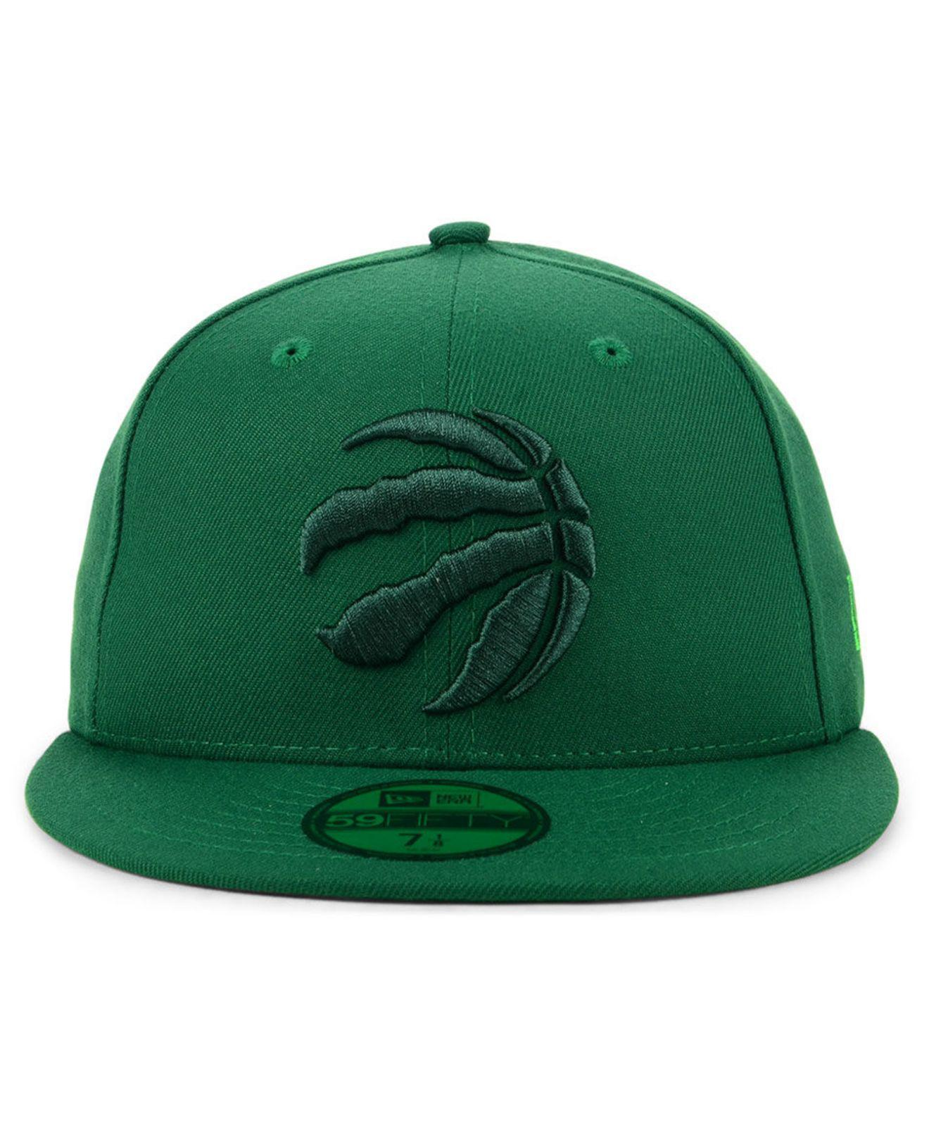 89092a8c114 ... get lyst ktz toronto raptors color prism pack 59fifty fitted cap in  green for men 30610
