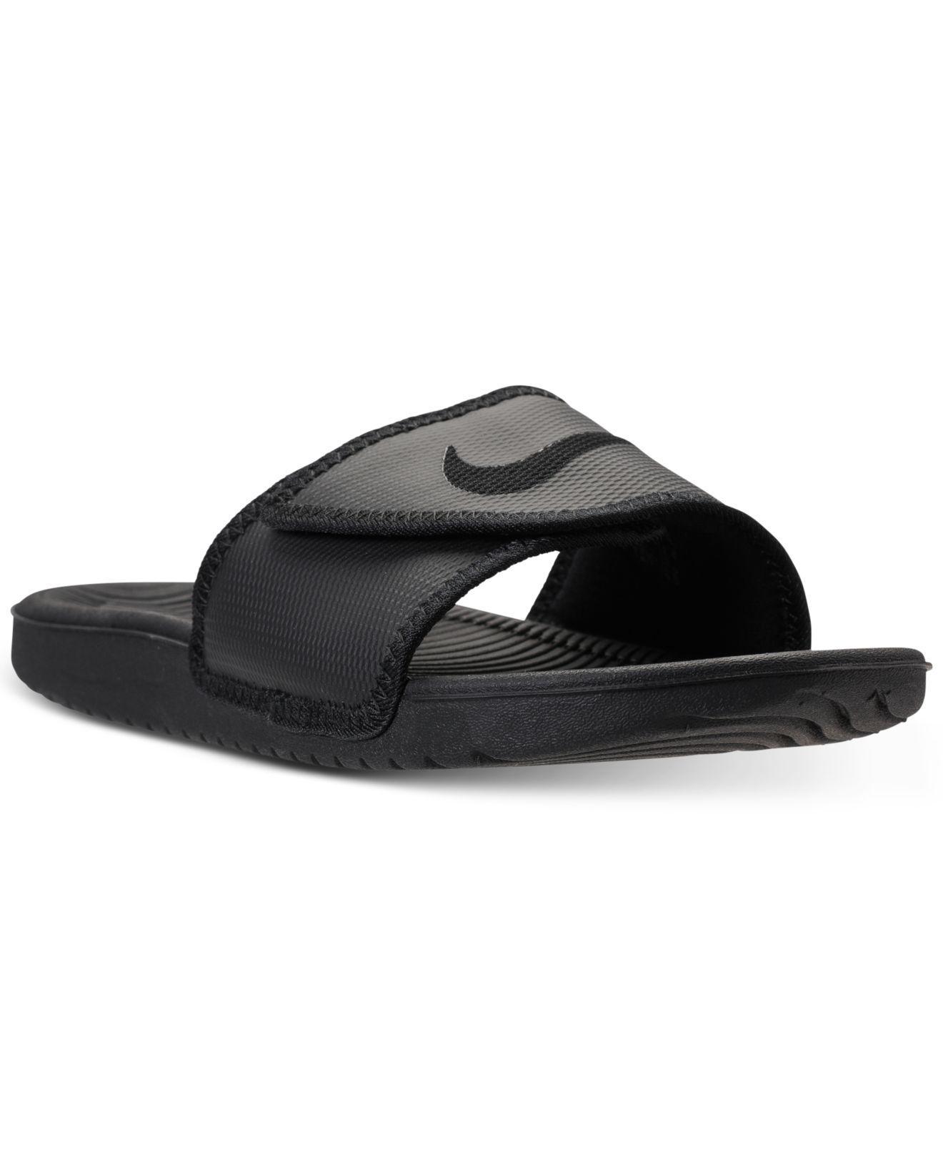 Men's Kawa Adjustable Slide Sandals From Finish Line