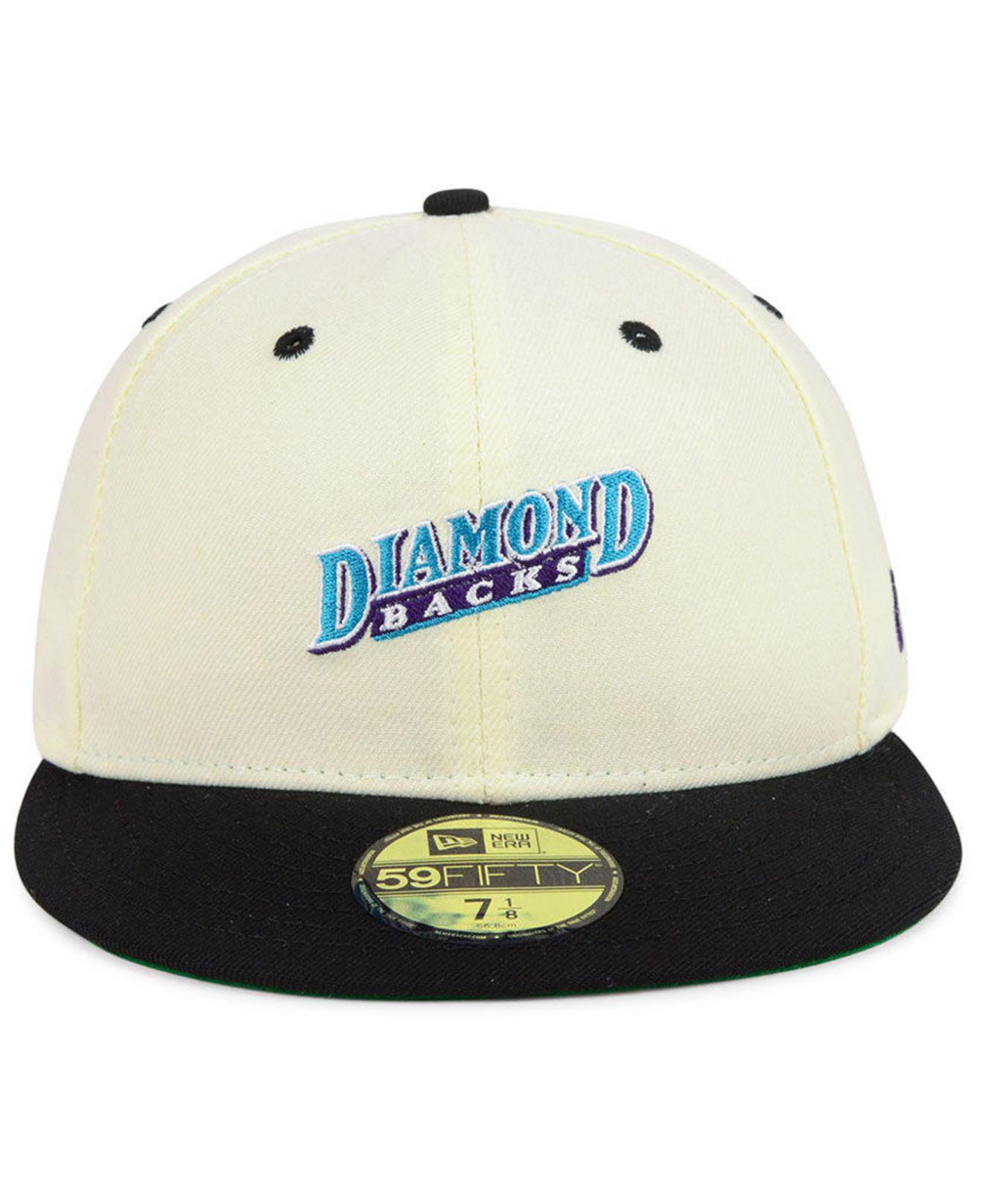 3a3c3542081 Lyst - KTZ Arizona Diamondbacks Retro Stock 59fifty Fitted Cap in White for  Men