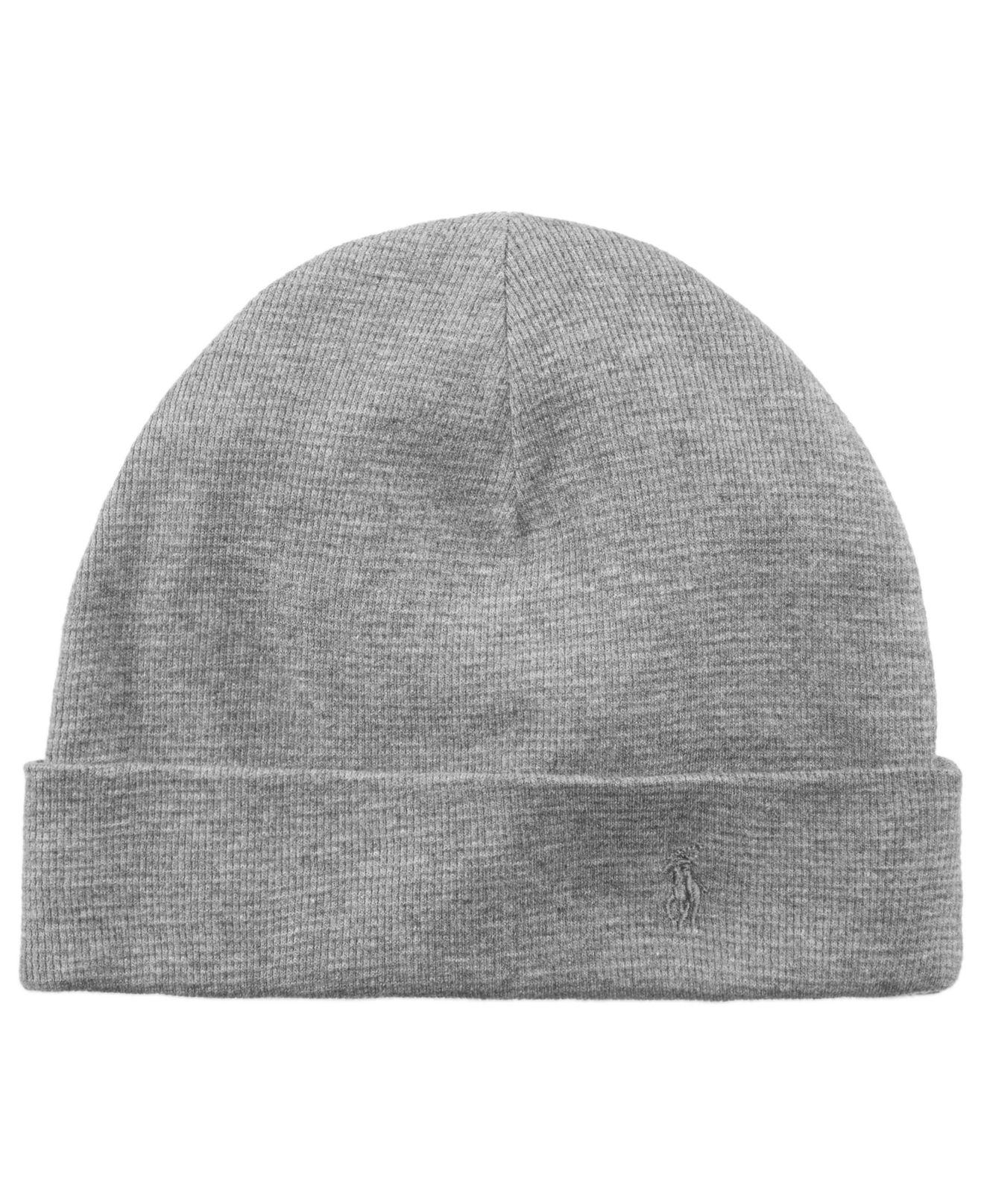 9a6e5251f393a Polo Ralph Lauren Thermal Cuffed Beanie in Gray for Men - Lyst