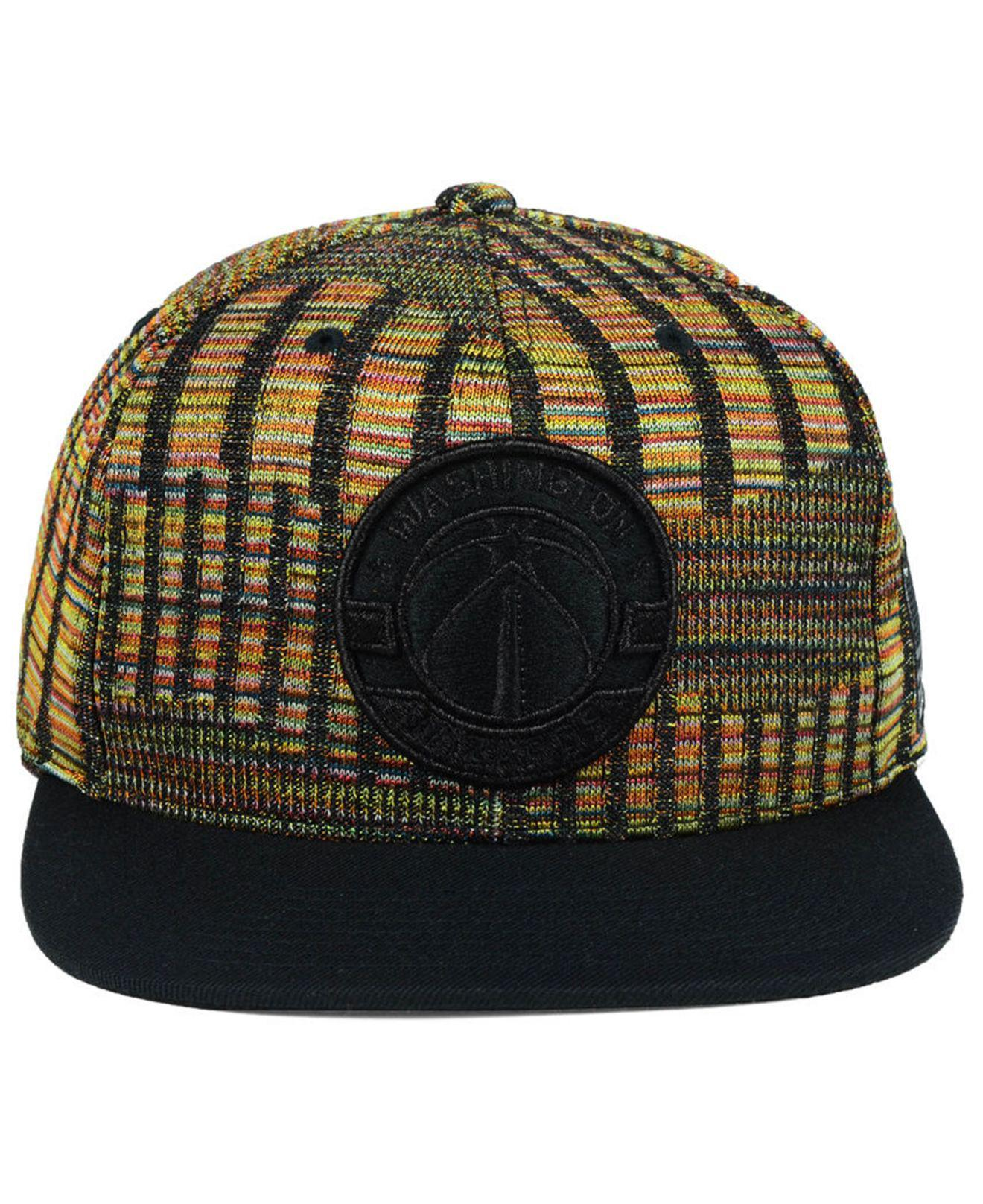 size 40 de220 a7182 Mitchell   Ness Washington Wizards Black Flag Snapback Cap in Black for Men  - Lyst