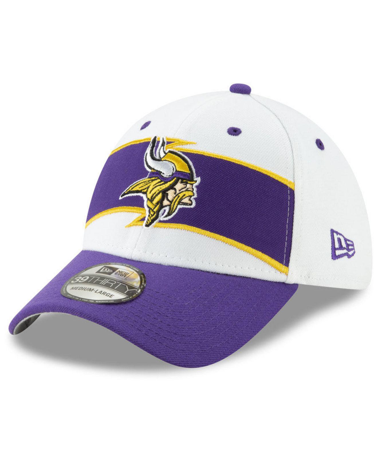 ede55bff6c8 KTZ - Purple Minnesota Vikings Thanksgiving 39thirty Cap for Men - Lyst.  View fullscreen