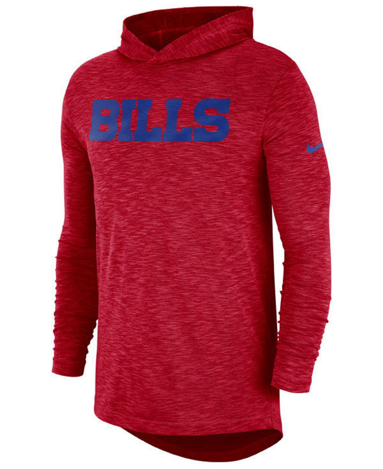 c118639e3c66 Lyst - Nike Buffalo Bills Dri-fit Cotton Slub On-field Hooded T ...