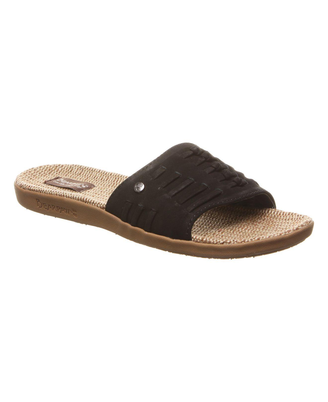 ada70f2968b8 Lyst - BEARPAW Cedar Flat Sandals in Black - Save 37%