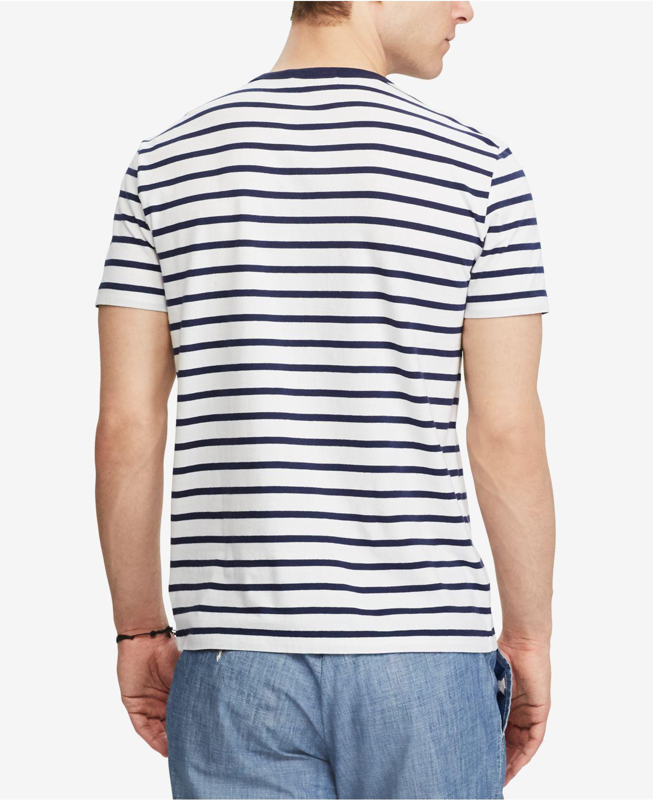 Men S Custom Slim Fit Striped Cotton T Shirt