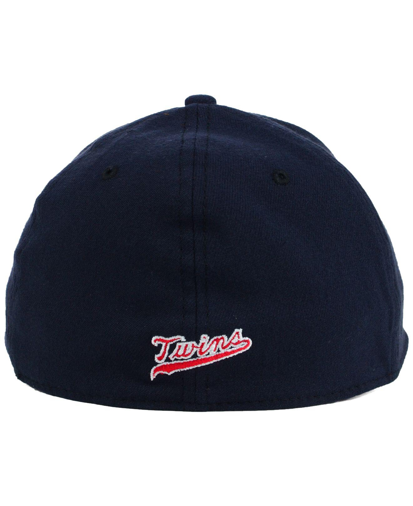 shop good wide varieties KTZ Synthetic Minnesota Twins Core Classic 39Thirty Cap in Navy ...