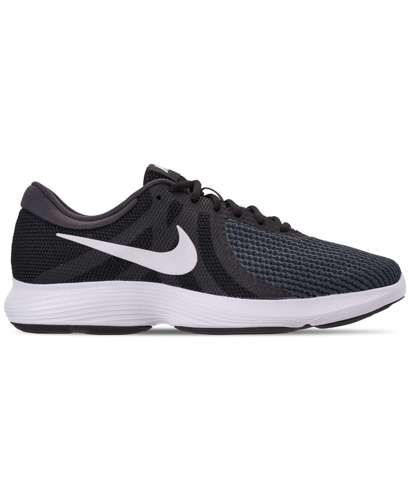 24f4d81c2eed Lyst - Nike Revolution 4 Wide Width Running Sneakers From Finish Line in  Black