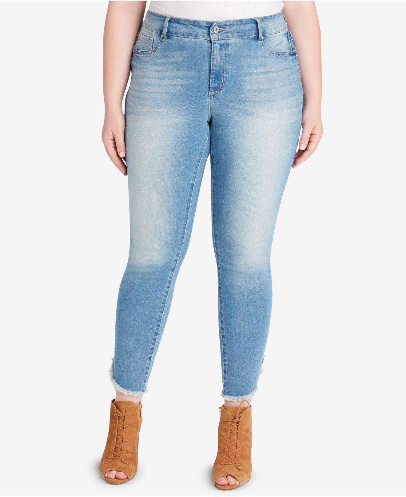 a3c9b1087c0 Jessica Simpson. Women s Blue Trendy Plus Size Kiss Me Super Skinny Jeans