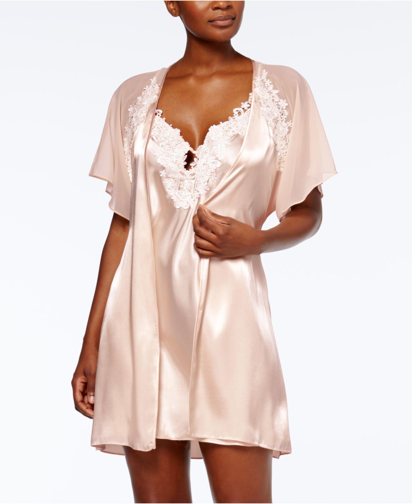 4204d637d9 Linea Donatella Satin Secret Love Wrap Robe in Pink - Lyst
