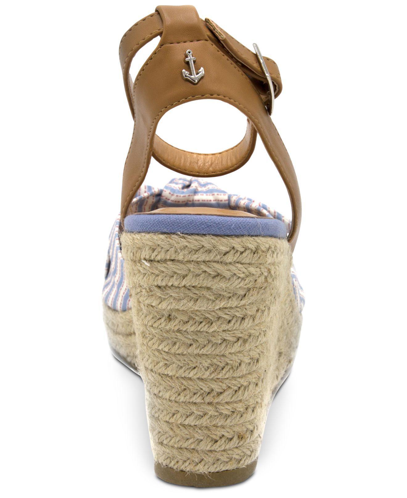 Nautica Curia Platform Espadrille Wedge Sandals Women's Shoes jYCE4b8