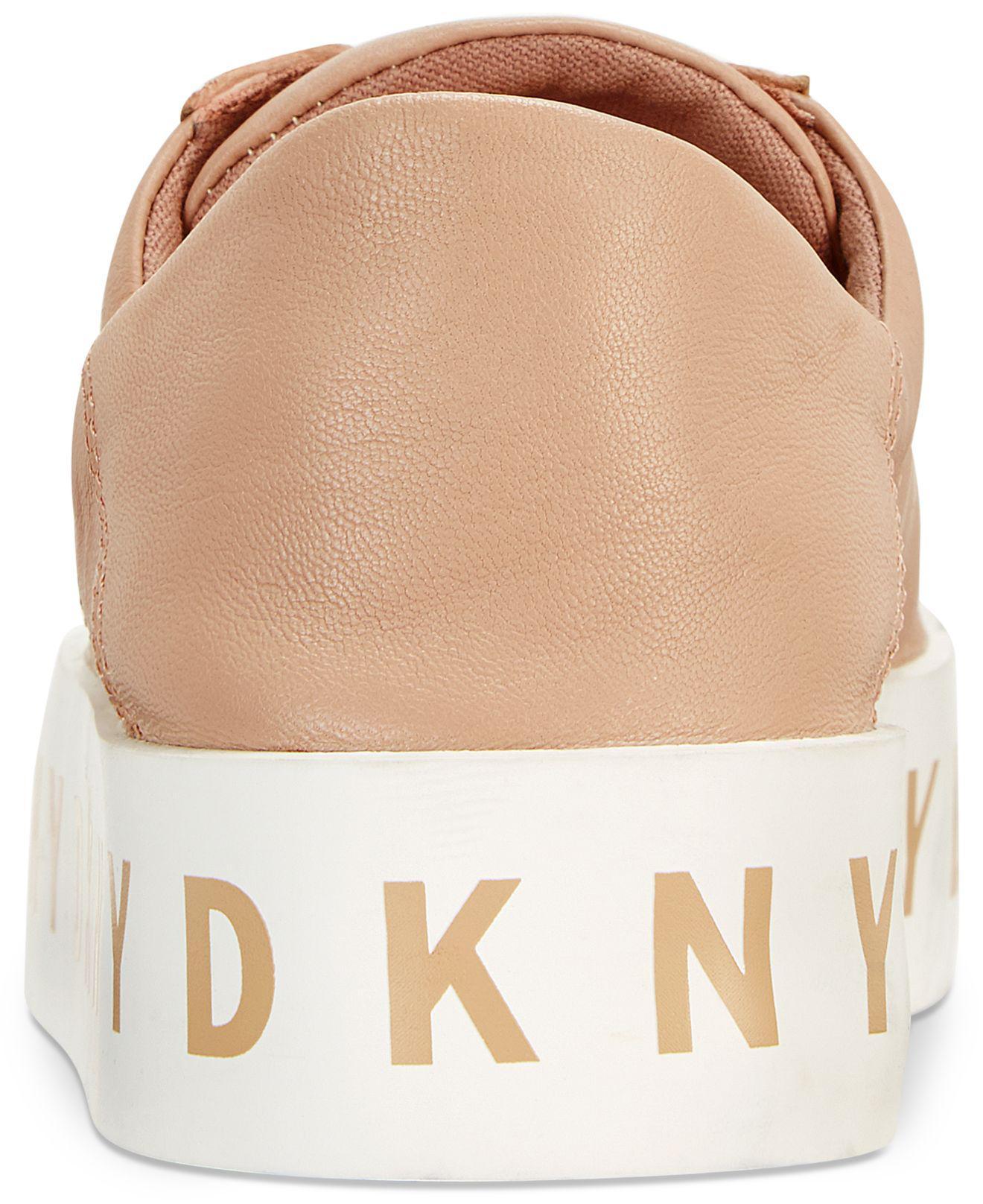DKNY Leather Banson Lace-up Platform