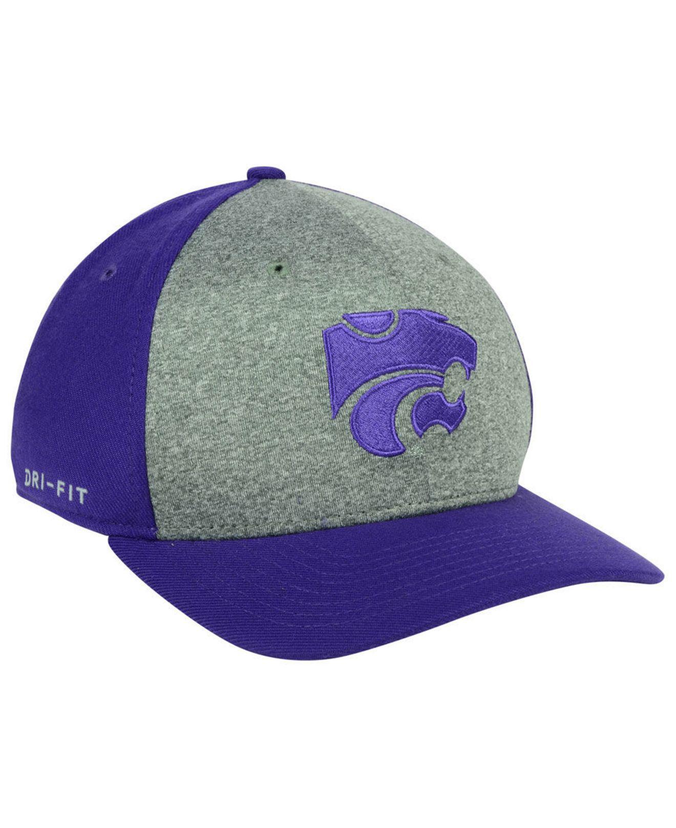 the latest 9e85c 1891d Lyst - Nike Kansas State Wildcats Legend Swooshflex Cap in Purple ...