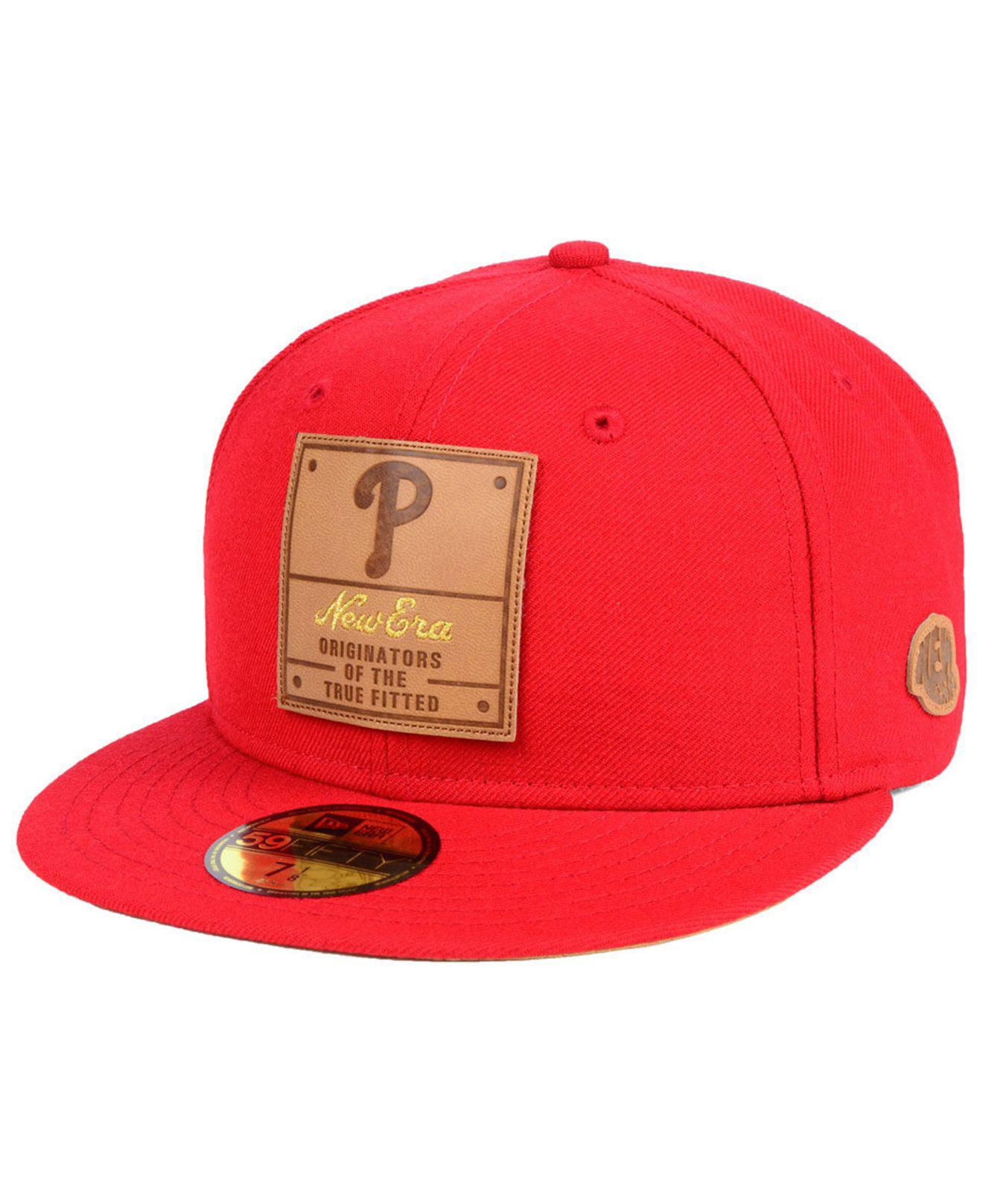 8eeded0b740 Lyst - KTZ Philadelphia Phillies Vintage Team Color 59fifty Fitted ...