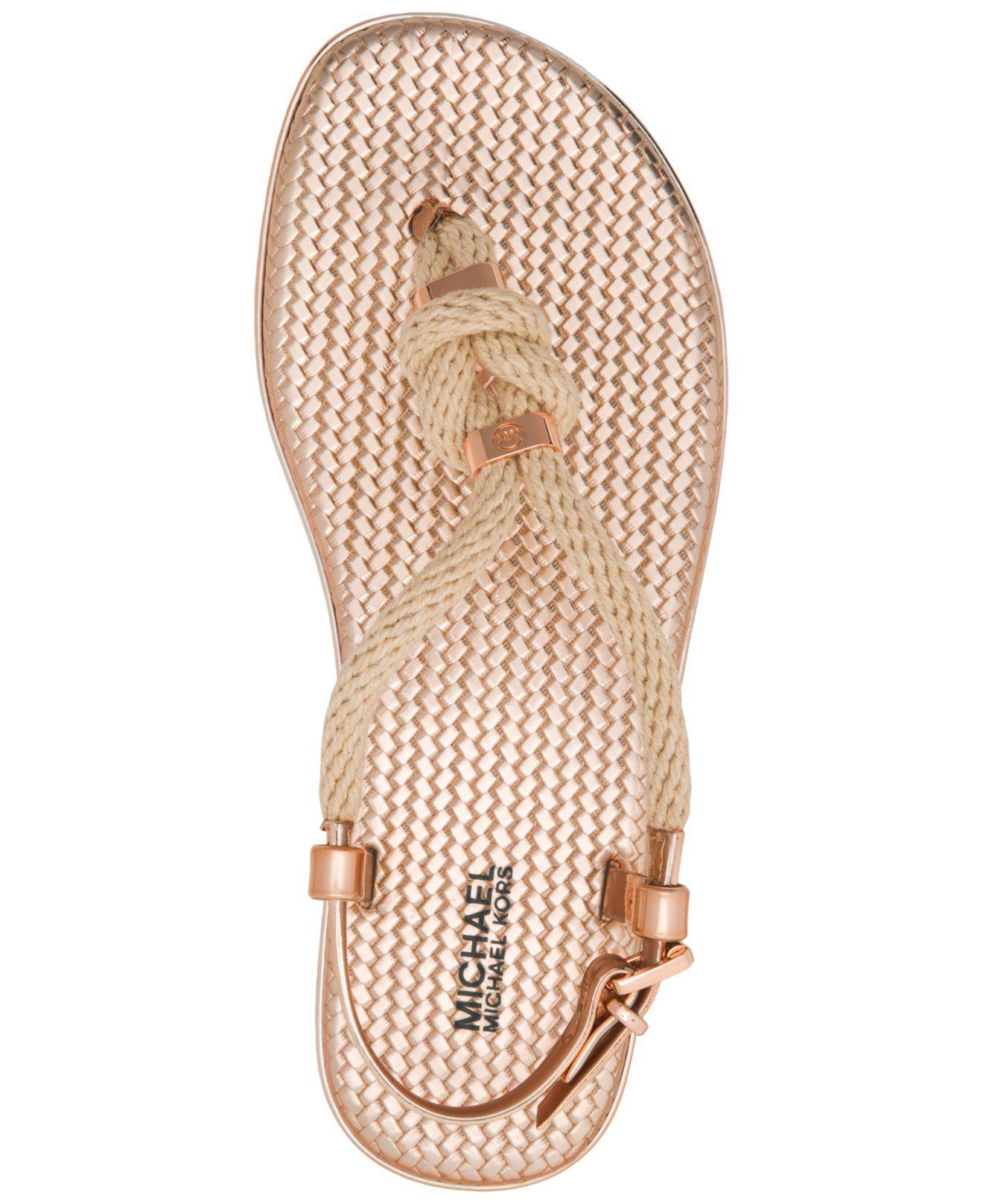 f94496dd9157 Michael Kors Michael Holly Flat Jelly Sandals - Lyst